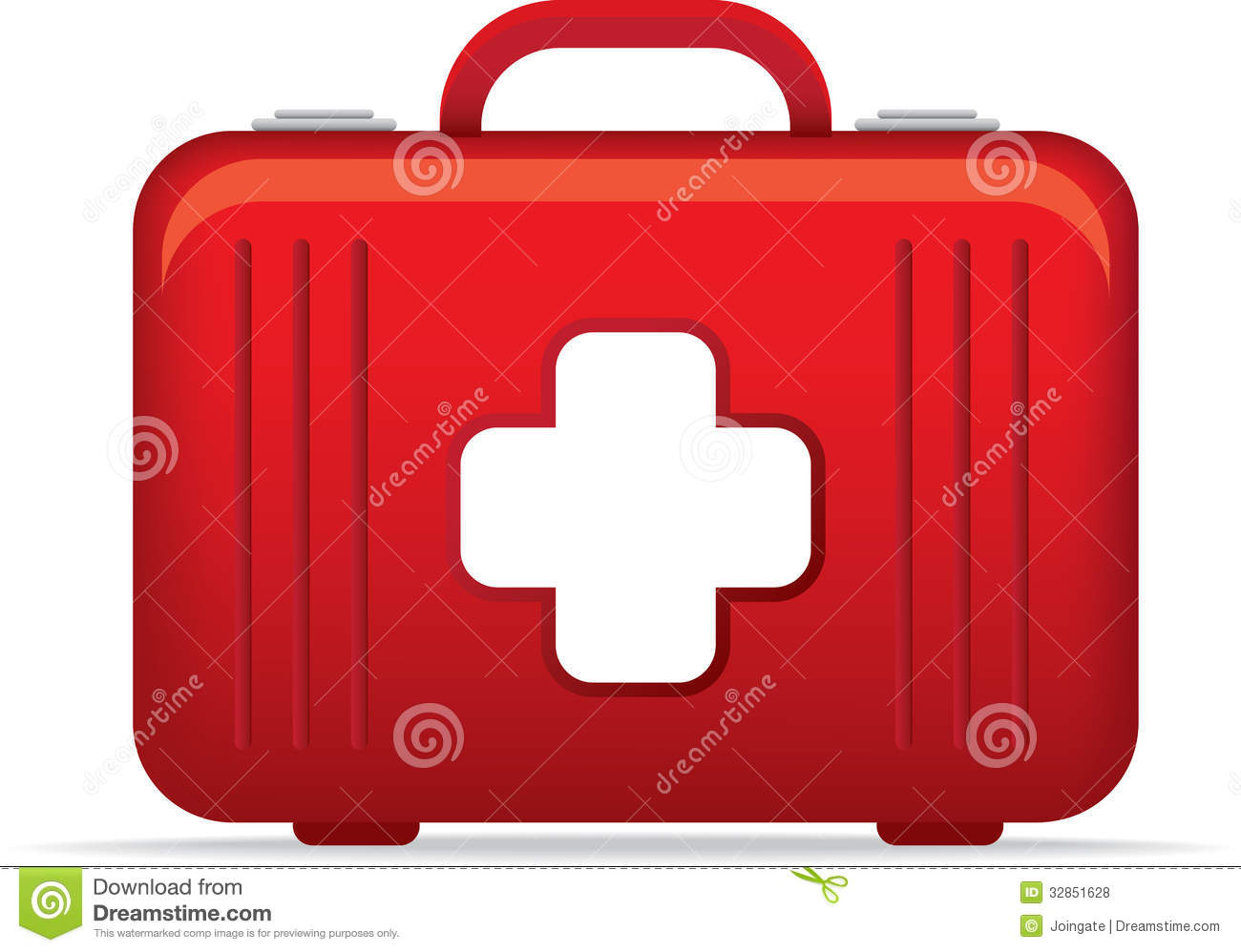 emergency medical kit bag icon or symbol illustrat royalty