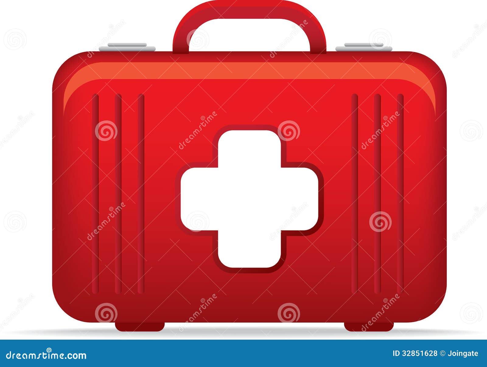 emergency medical kit bag icon or symbol illustrat royalty