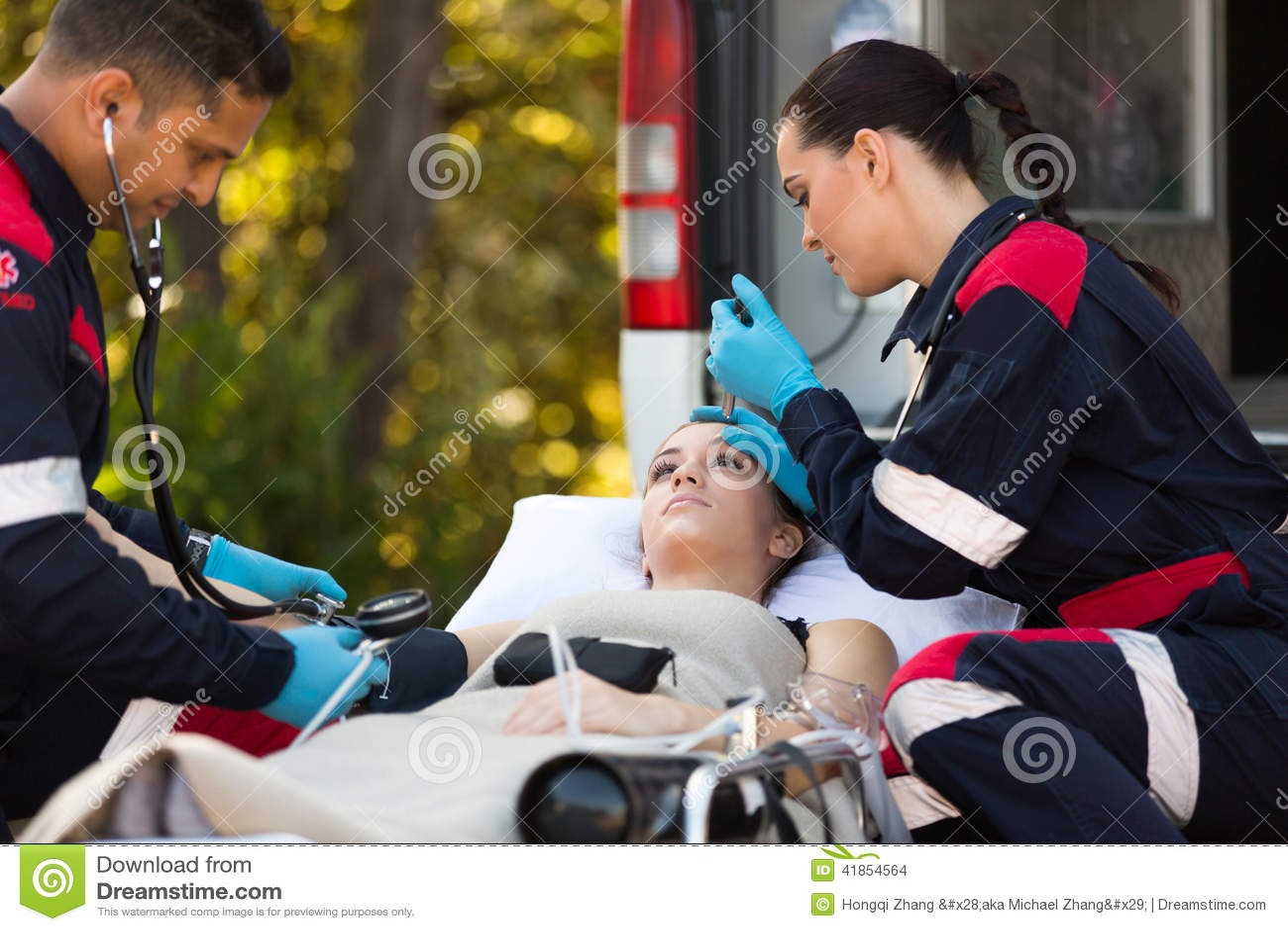 Emergency medical technicians patients