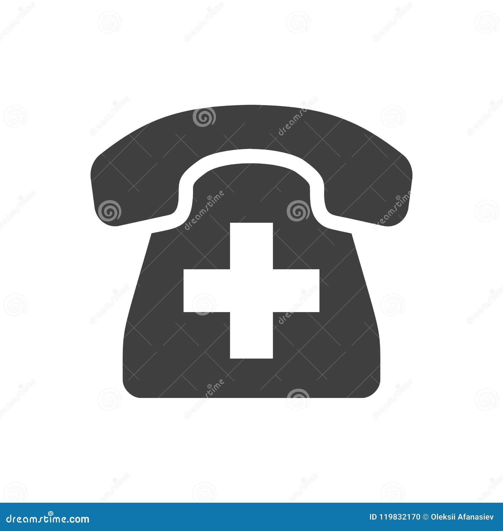 Emergency Phone Vector Icon