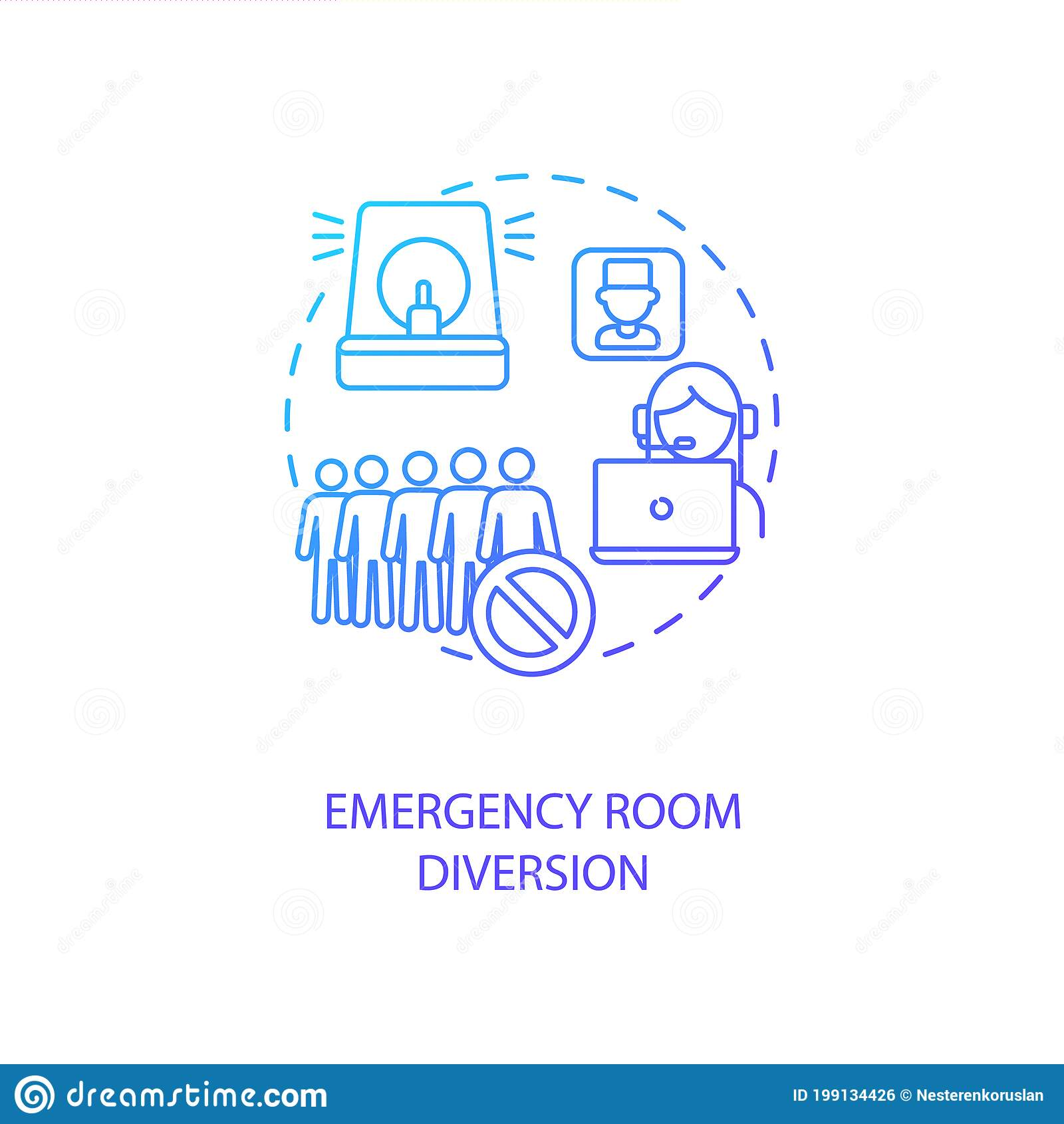 Emergency Room Diversion Concept Icon Stock Vector Illustration Of Drawing Healthcare 199134426