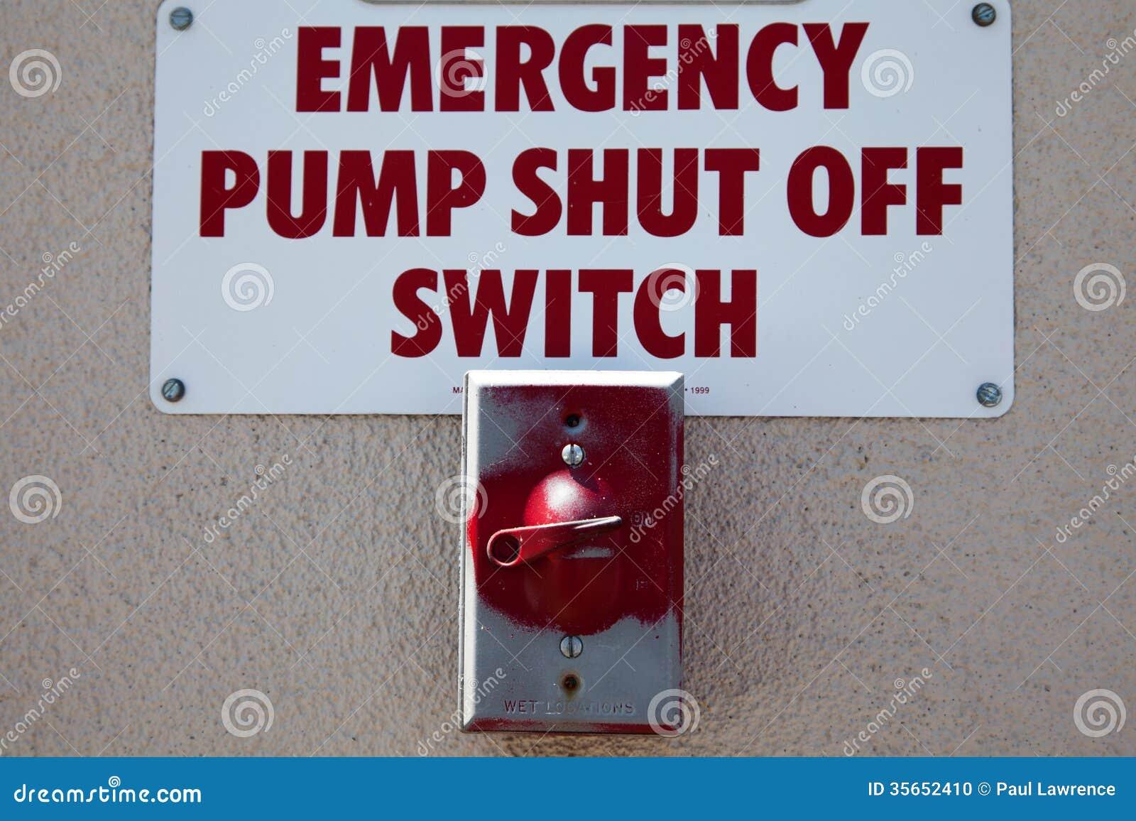 Emergency Shut Off Switch Stock Photo Image Of Fueling
