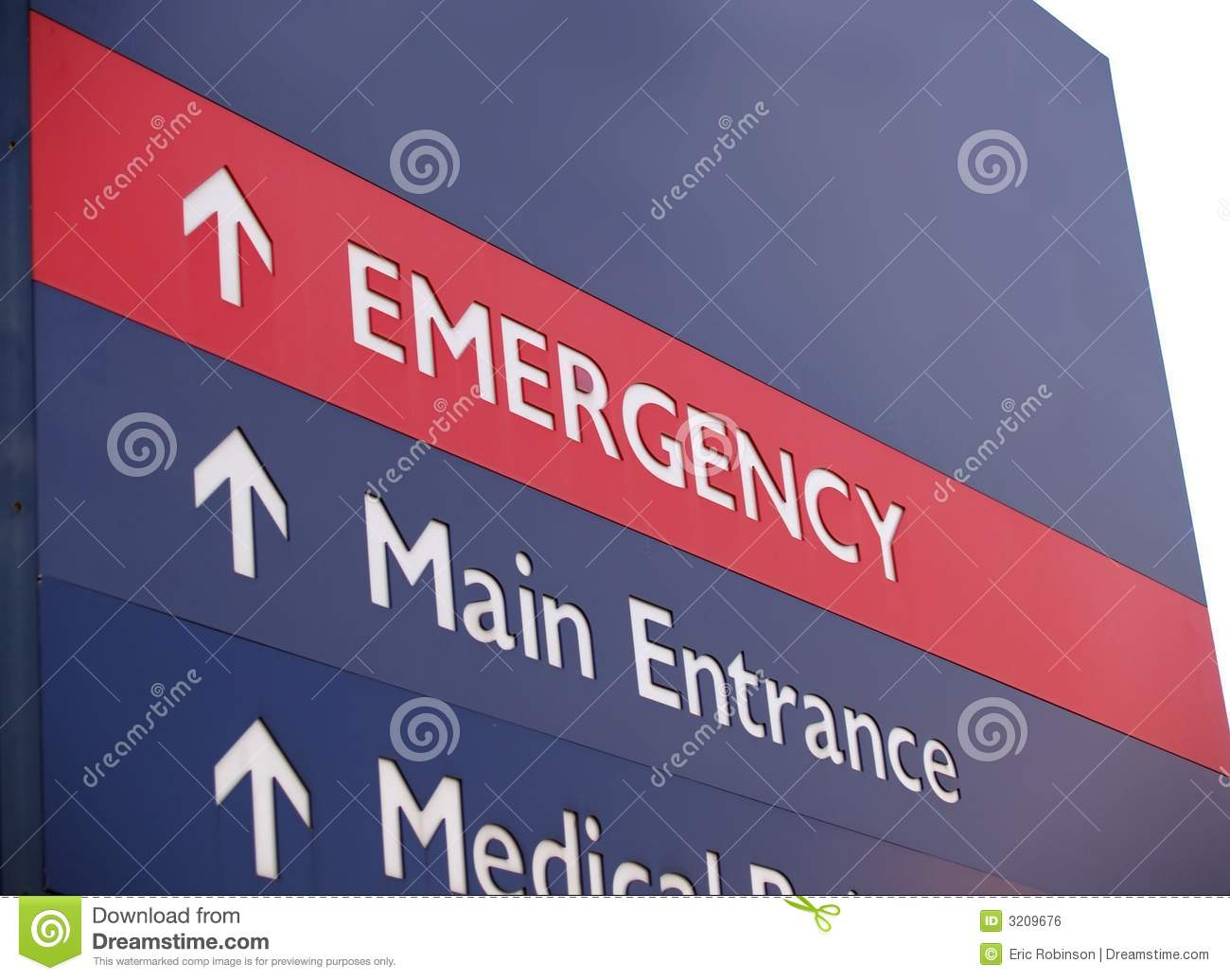 Emergency sign with copy space