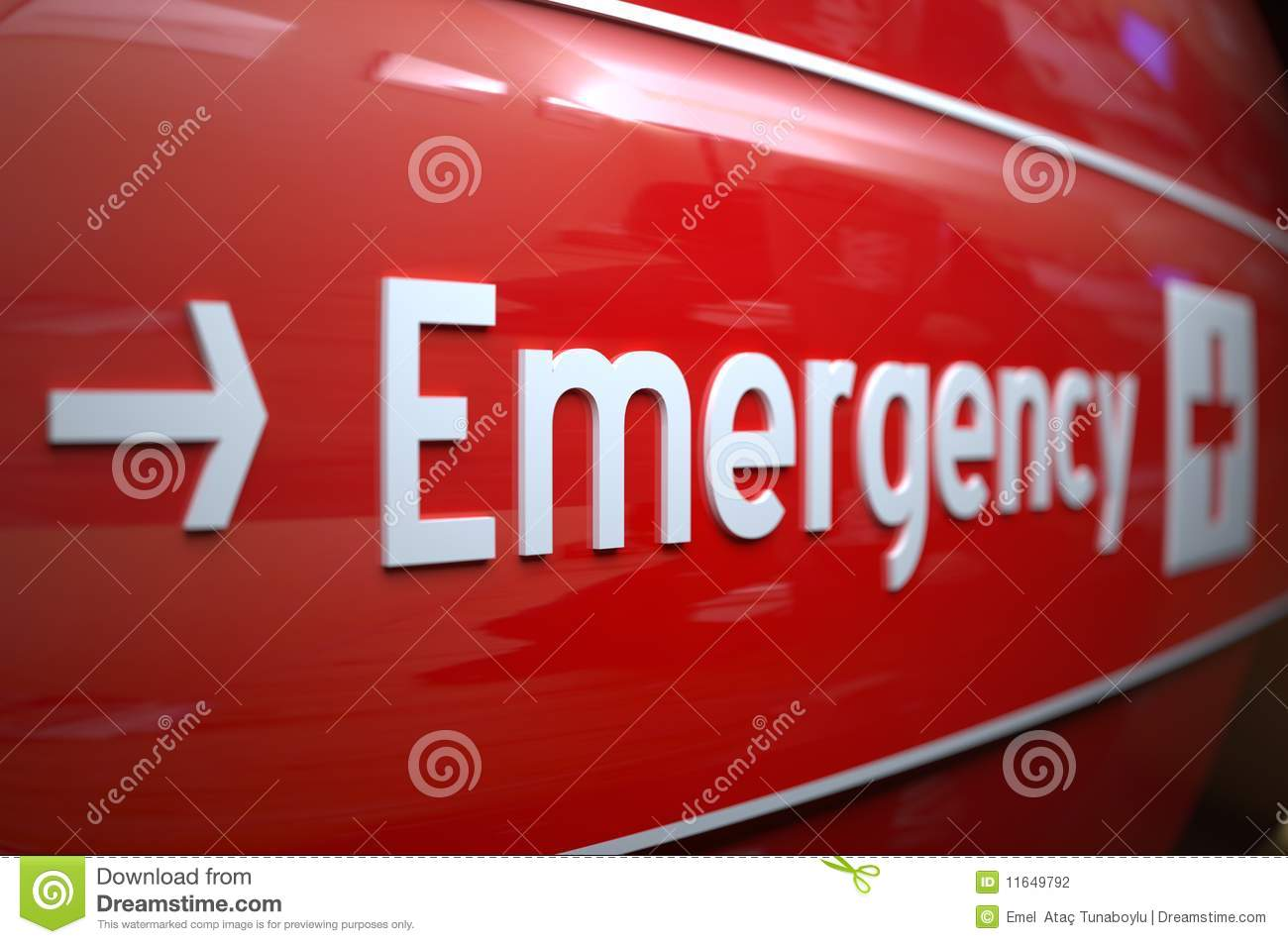 Download Emergency Sign At A Hospital. Stock Photo - Image of cross, pointing: 11649792