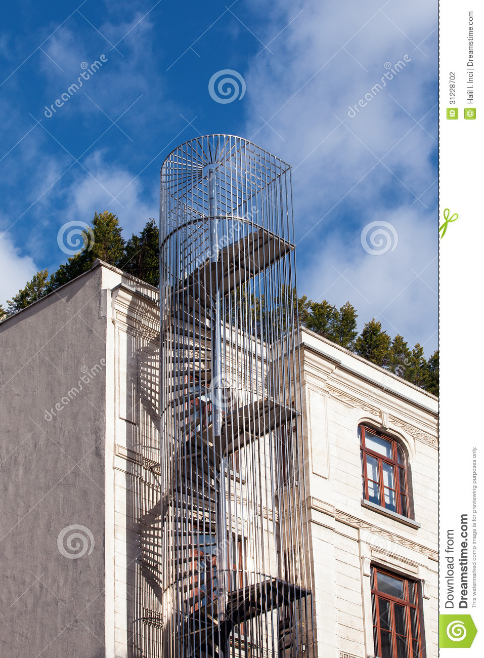 Emergency Stairs Stock Photography Image 31228702