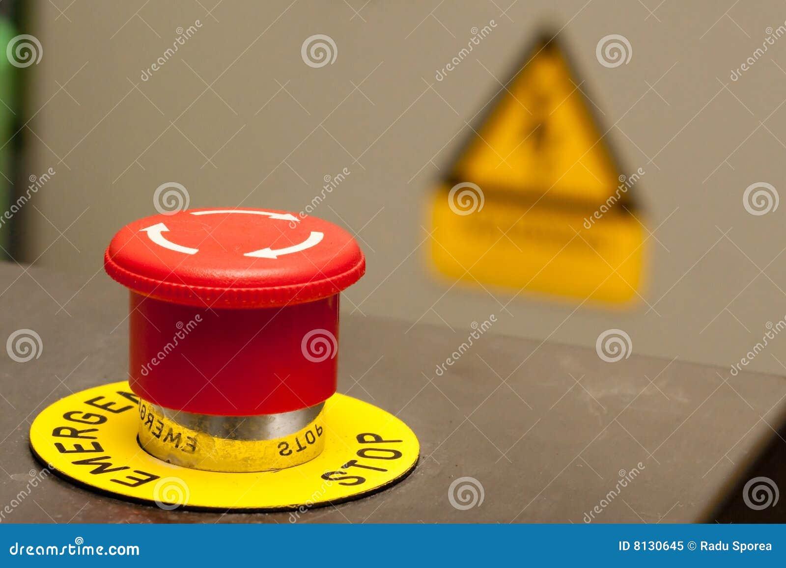 Emergency Stop Stock Image Image Of Symbol Push Sign 8130645