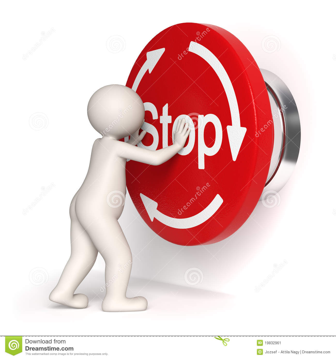 Emergency stop button 3d man stock illustration illustration of emergency stop button 3d man buycottarizona Images