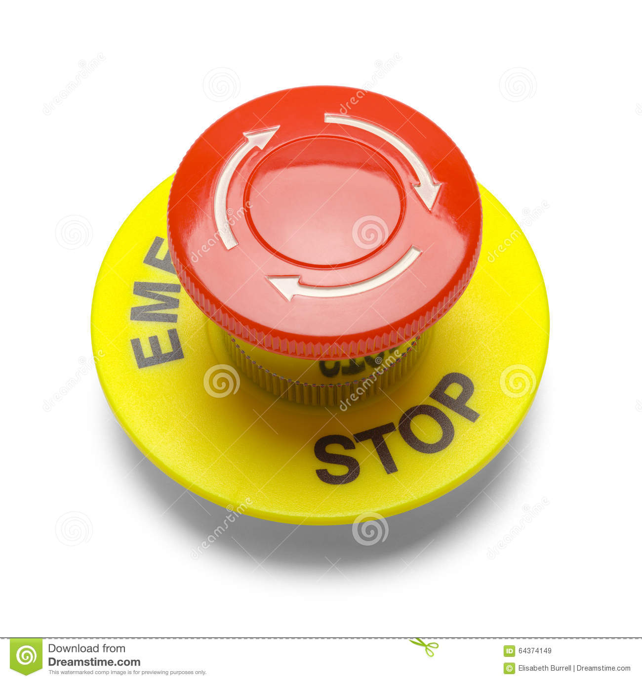 Emergency Stop Button stock image  Image of node, services