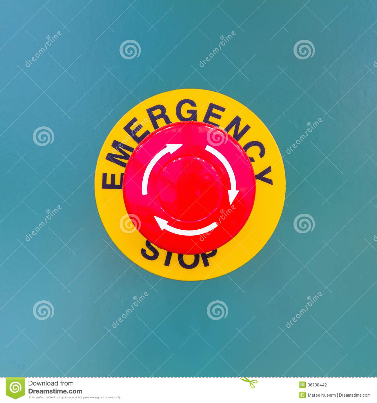 Emergency stop icon clipart emergency off - Button Close Device Electrical Emergency Mushroom Safety Stop