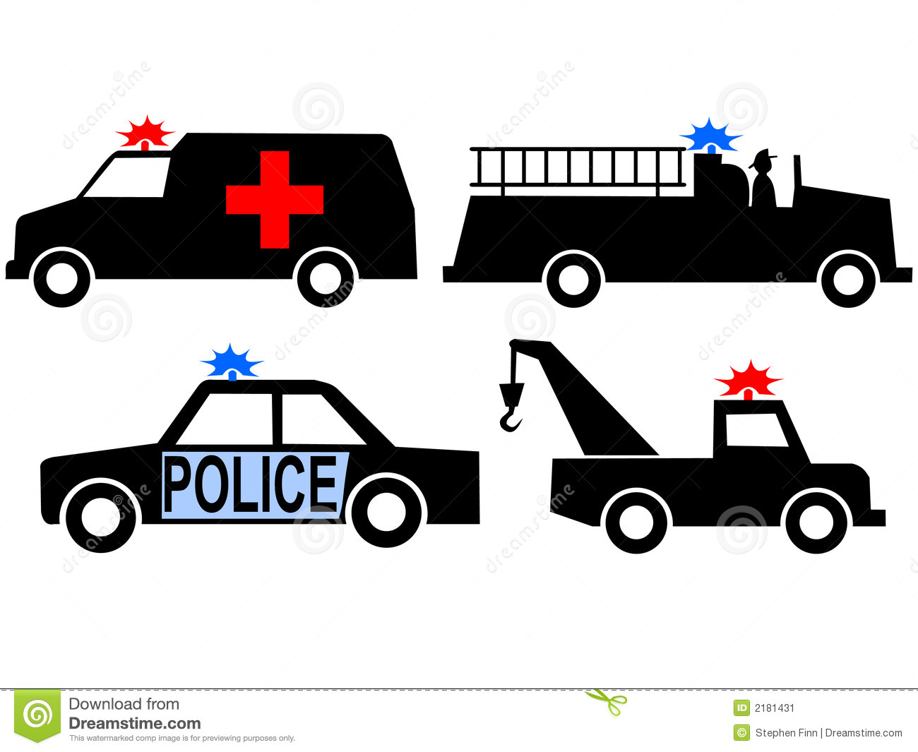 Emergency Vehicles Stock Image - Image: 2181431