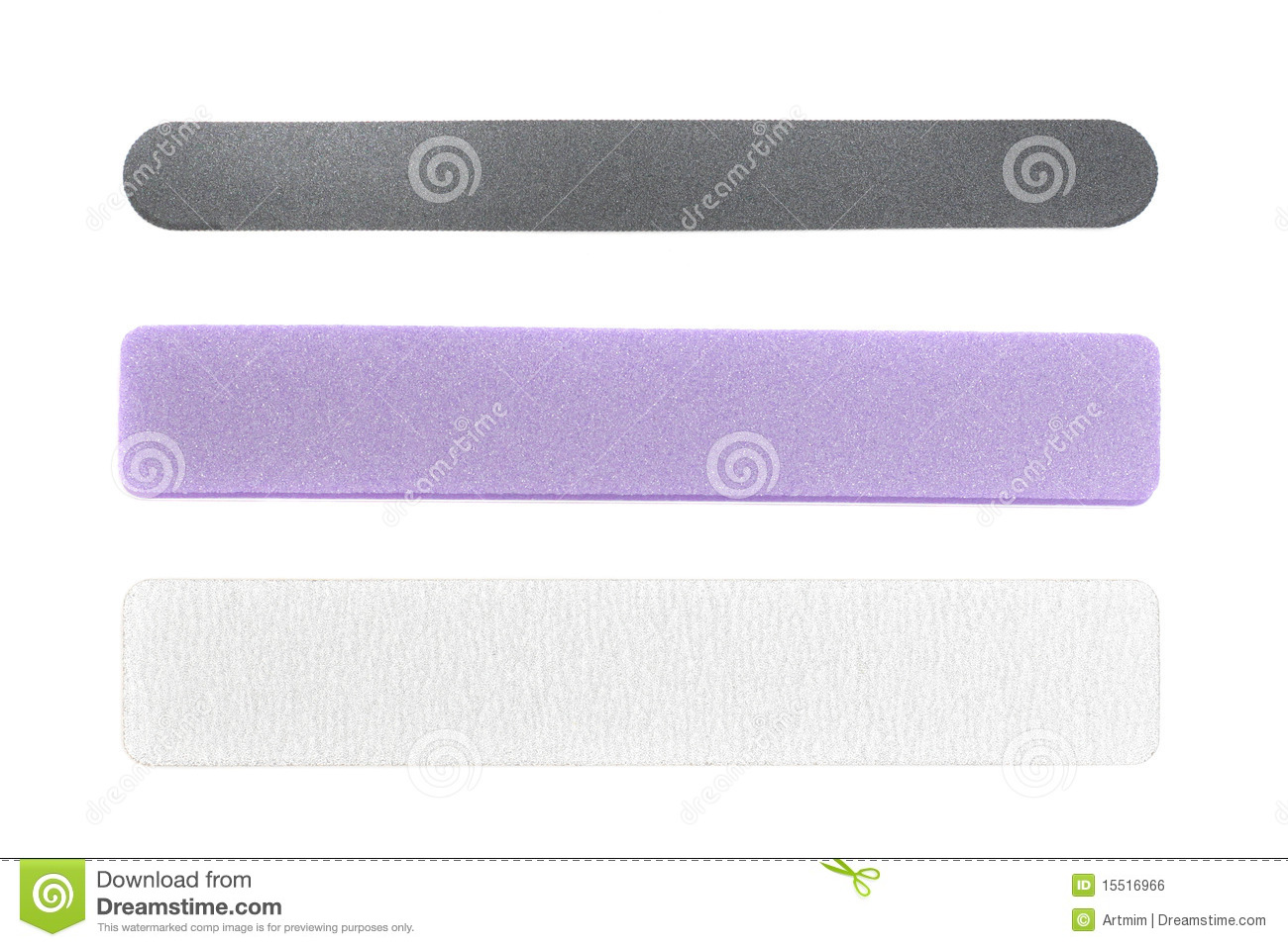 Emery Board Files Over White Royalty Free Stock Image