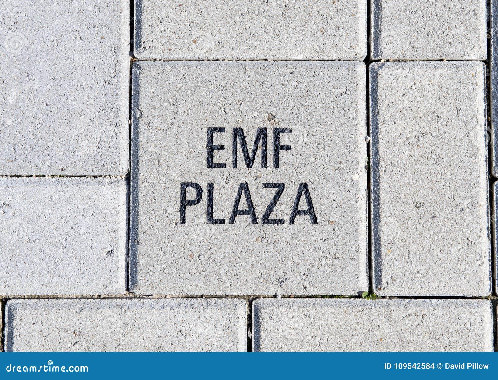 Emf-Piazzaziegelstein, EMF-Piazza, nationales ACEP hat, Dallas, Texas Hauptsitz