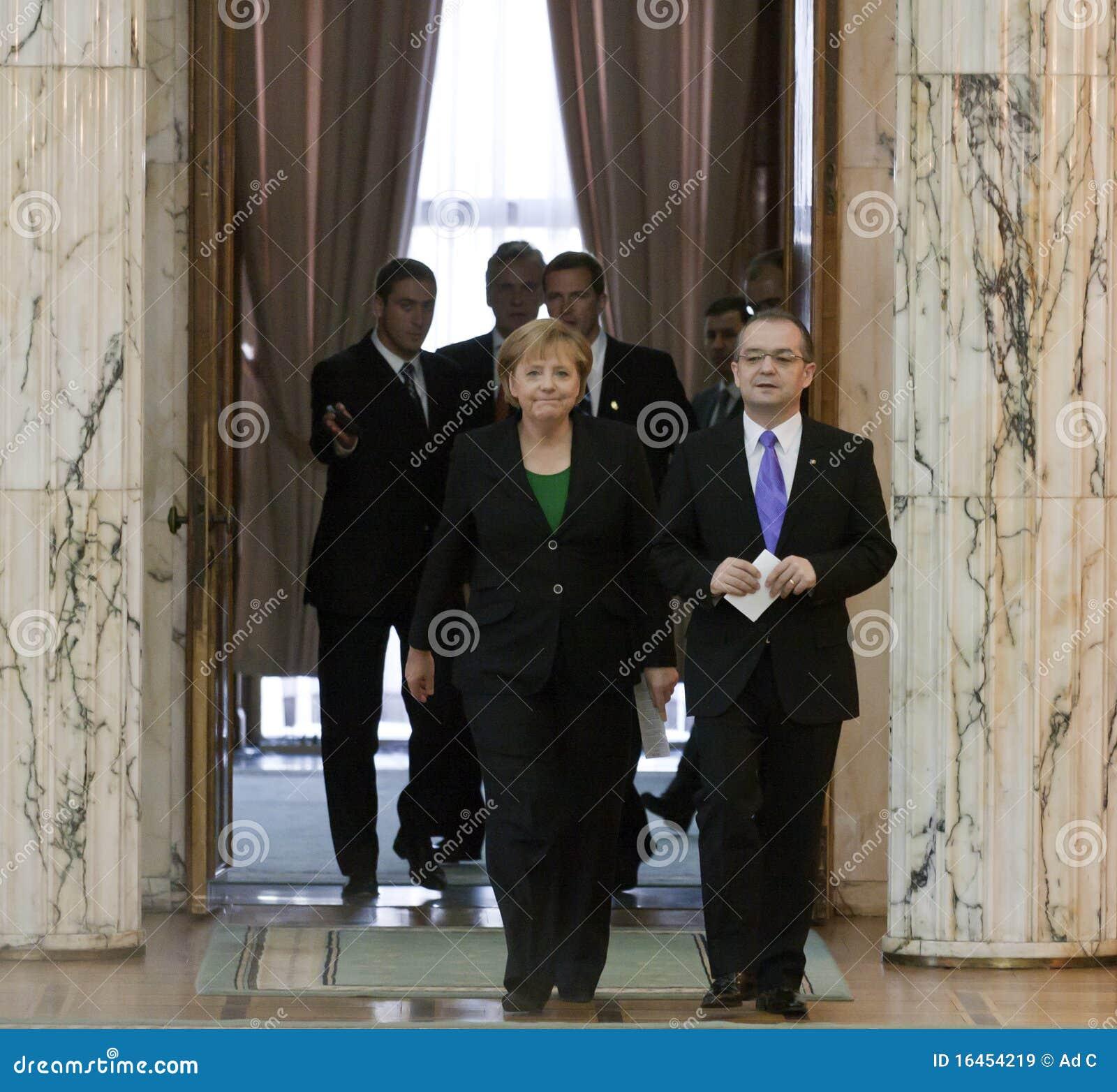 Emil Boc and Angela Merkel at Victoria Palace