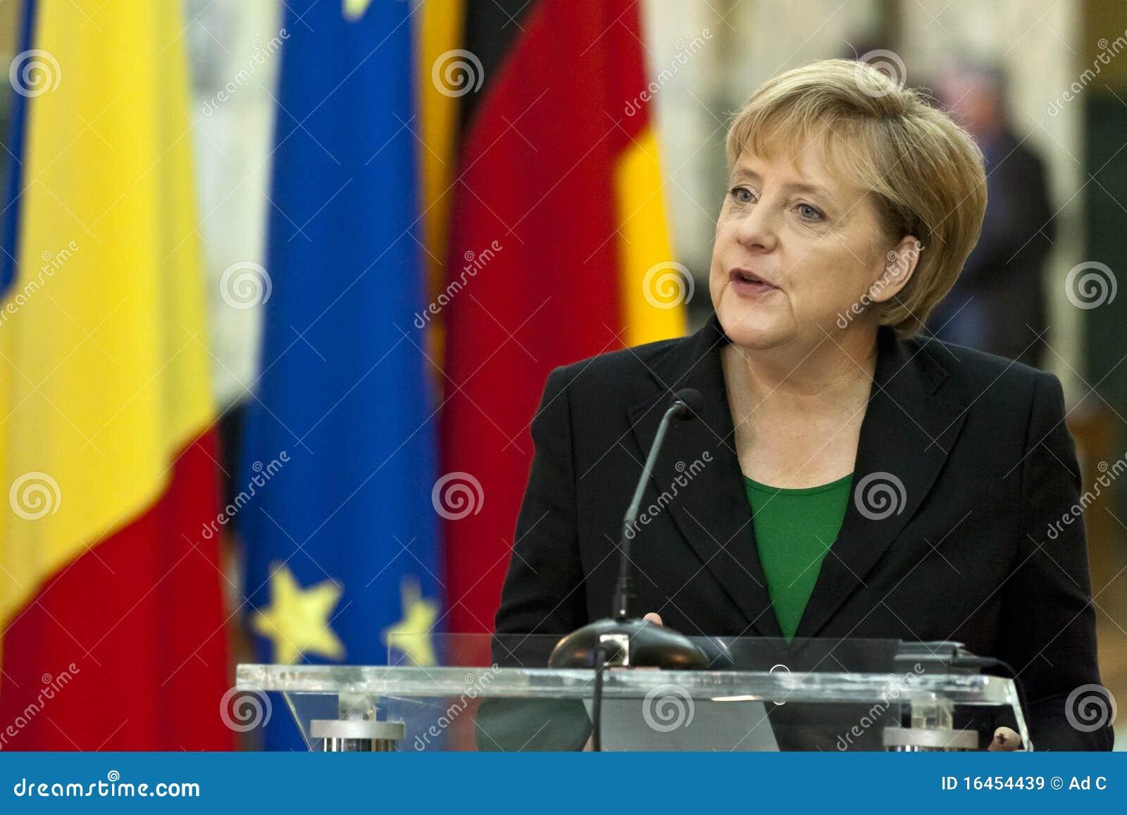 Emil Boc et Angela Merkel au palais de Victoria