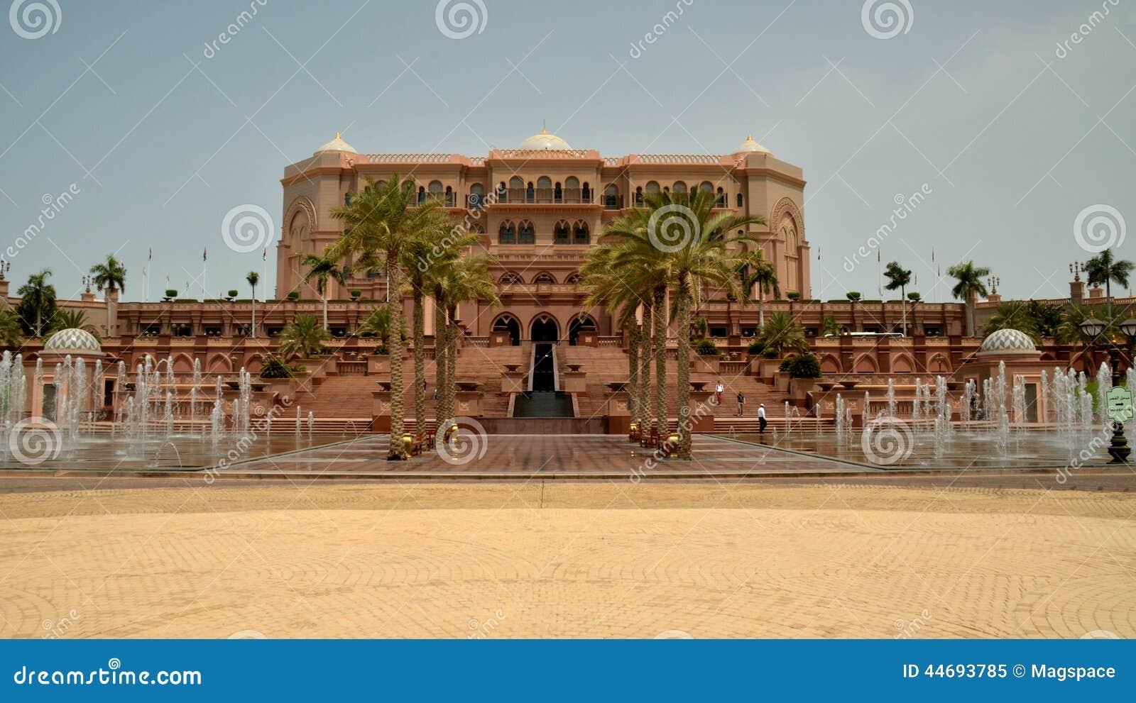 Emirat Palast Abu Dhabi Uae Redaktionelles Bild Bild Von Garten