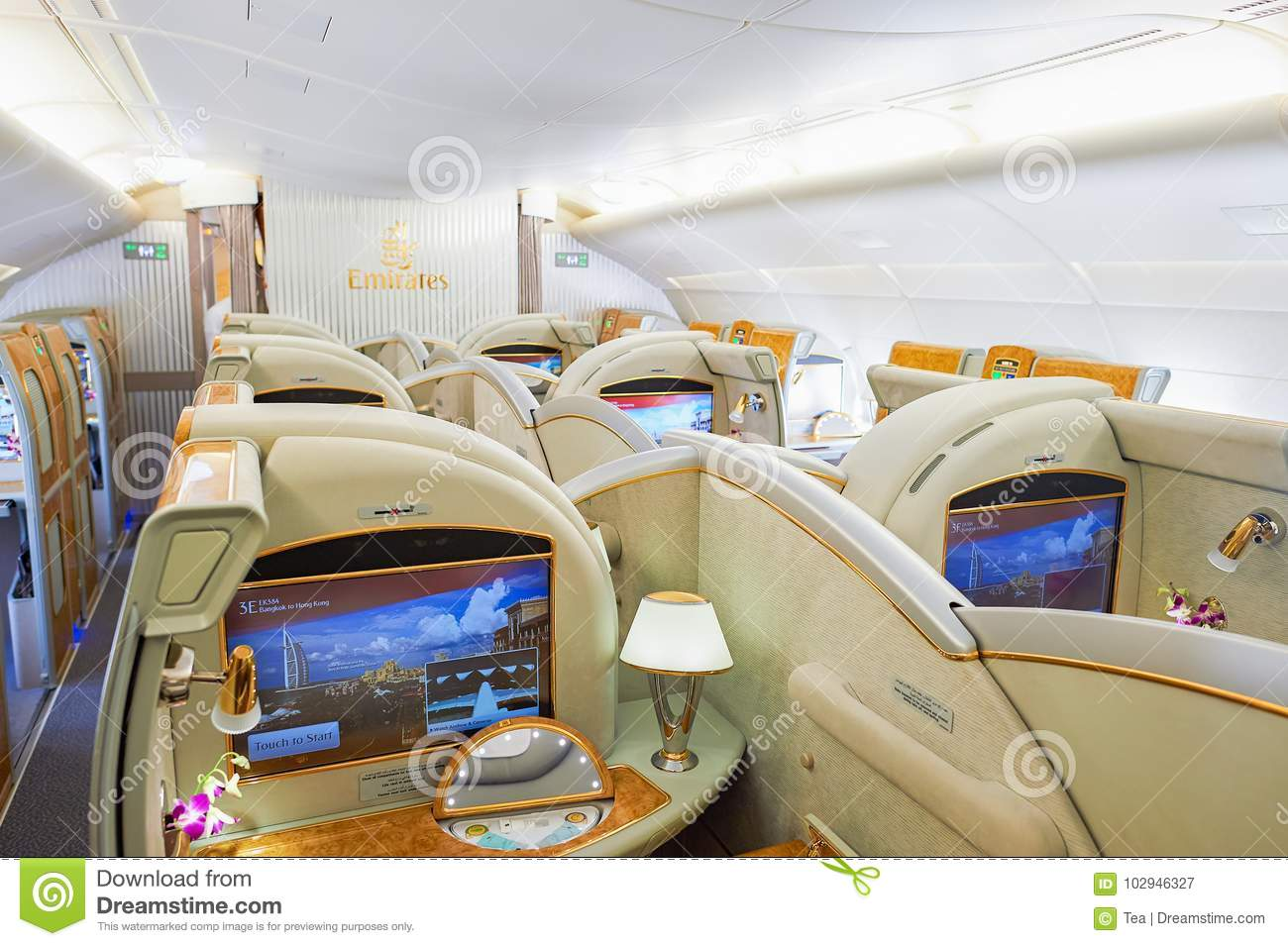 Emirates Airbus A380 Editorial Photography Image Of Cabin 102946327