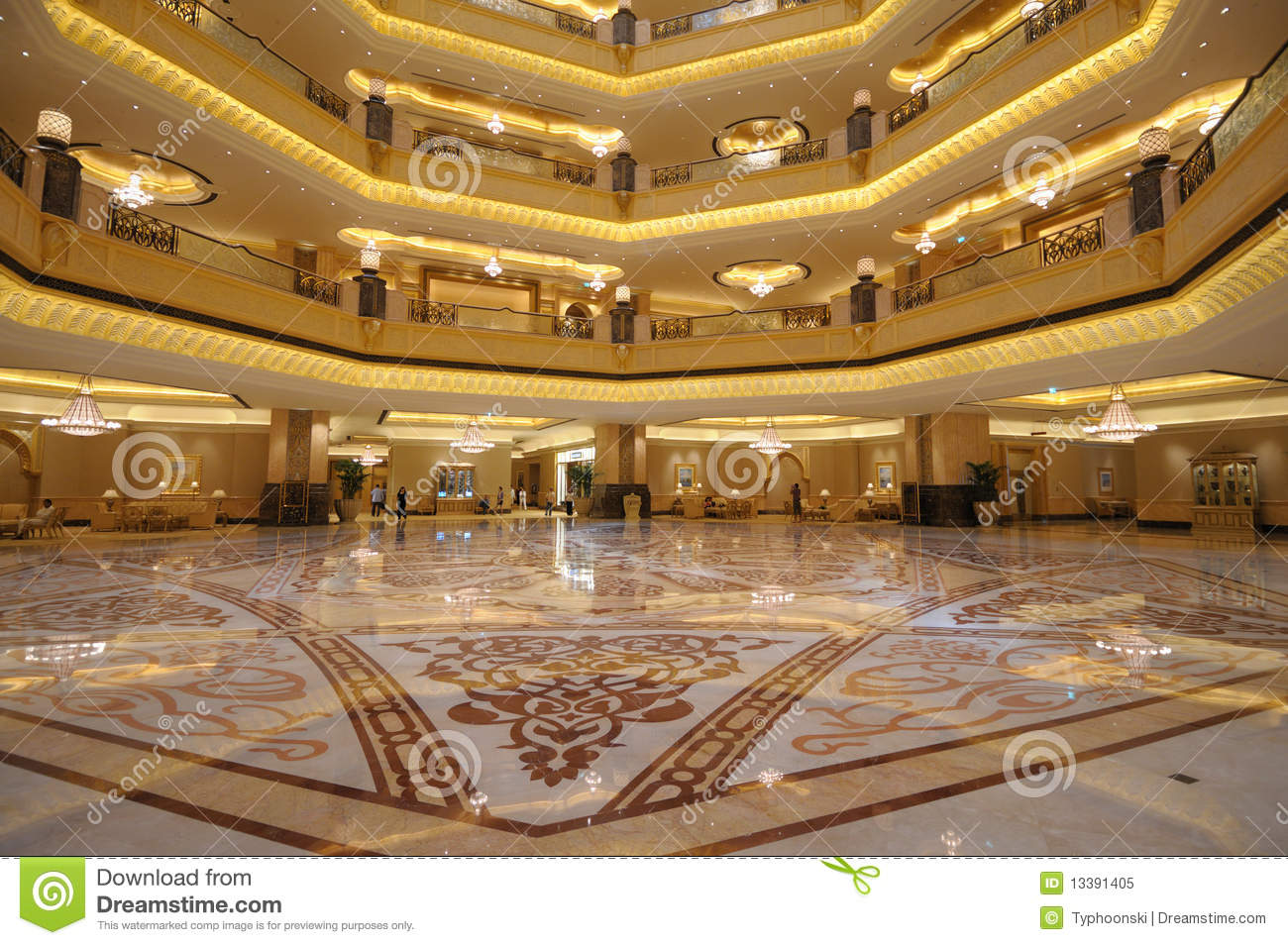 Emirates Palace Abu Dhabi Royalty Free Stock Image