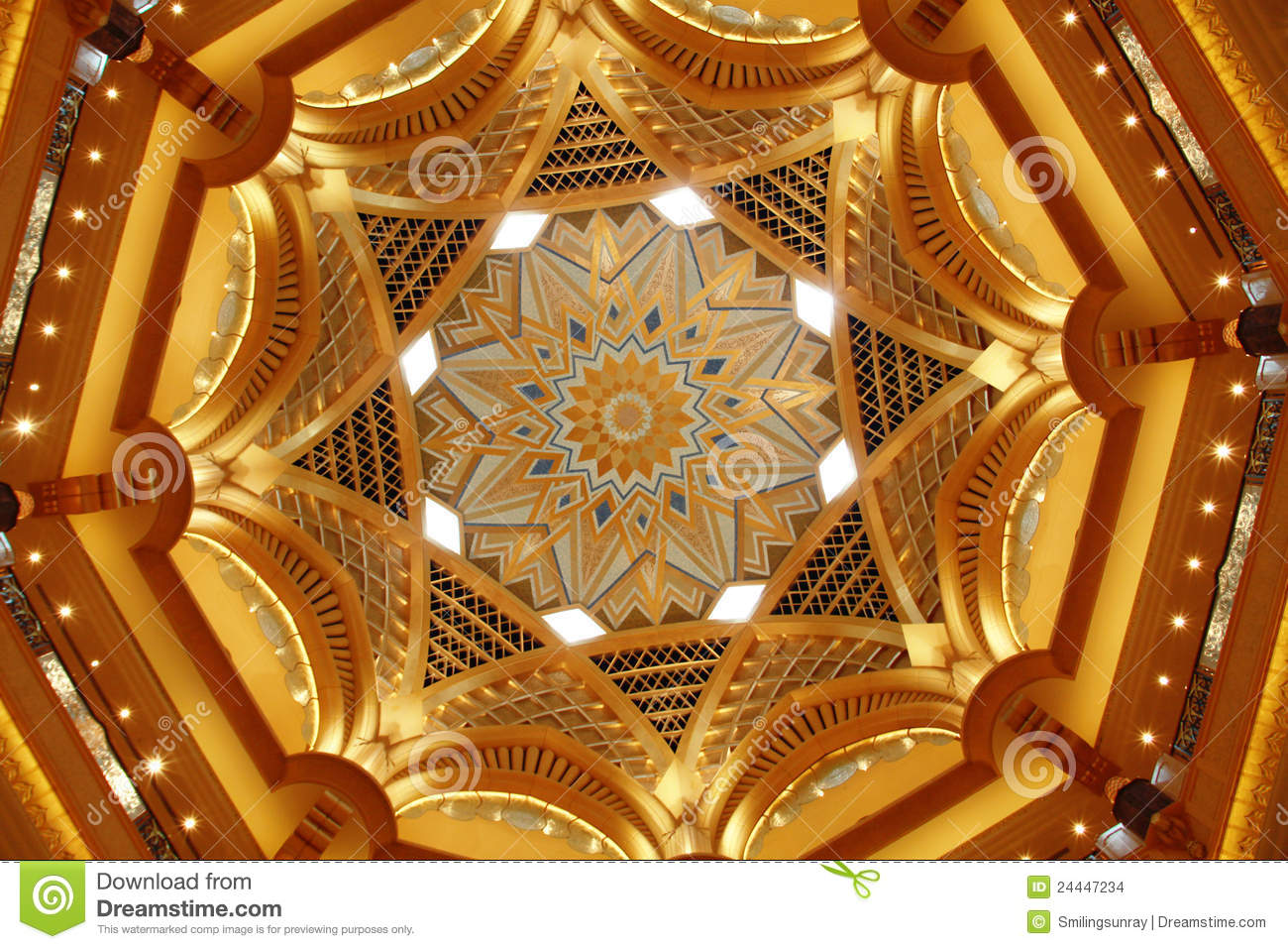 Emirates Palace Ceiling Editorial Stock Image Image