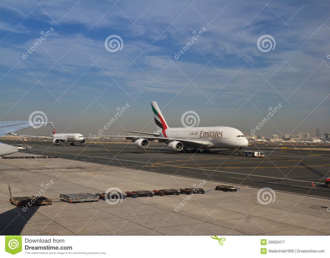 Emirates plane take off editorial photography  Image of a380