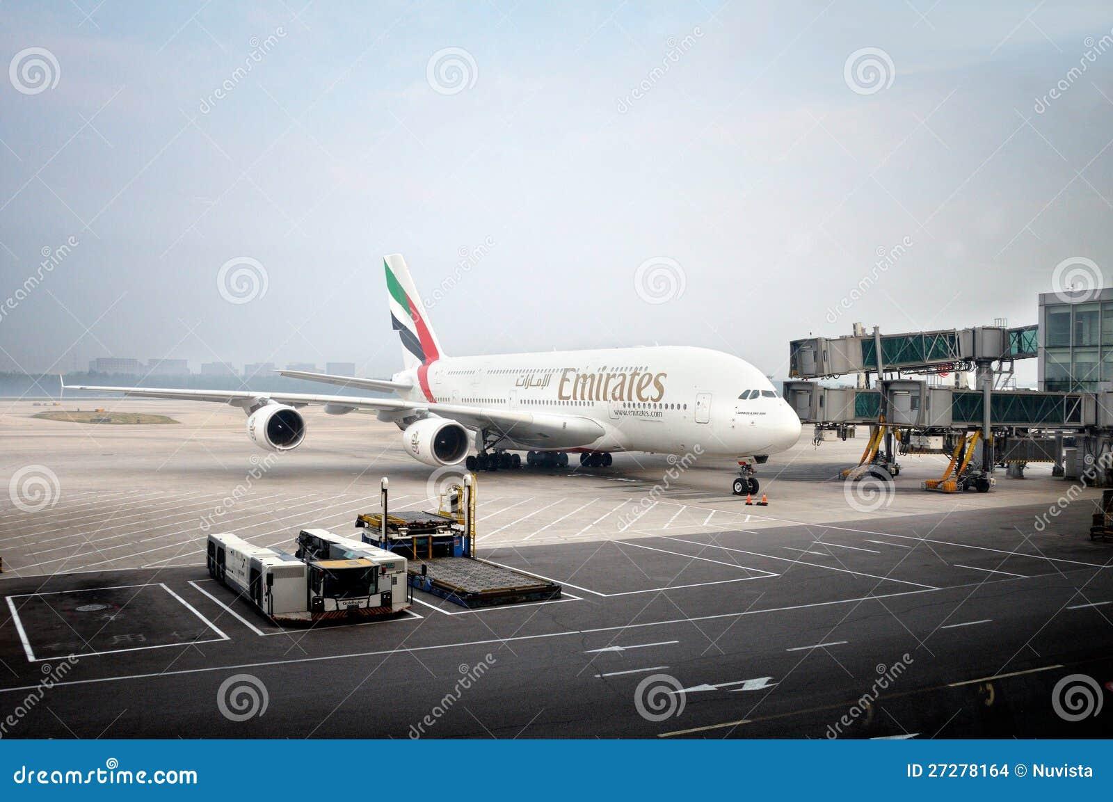 Emiratesflygbuss A380