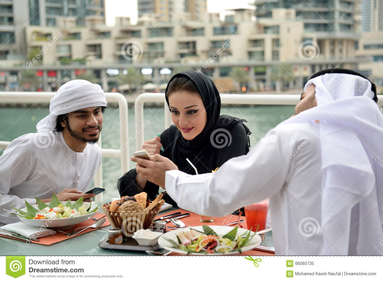 arab family home  arabic parents with children in modern