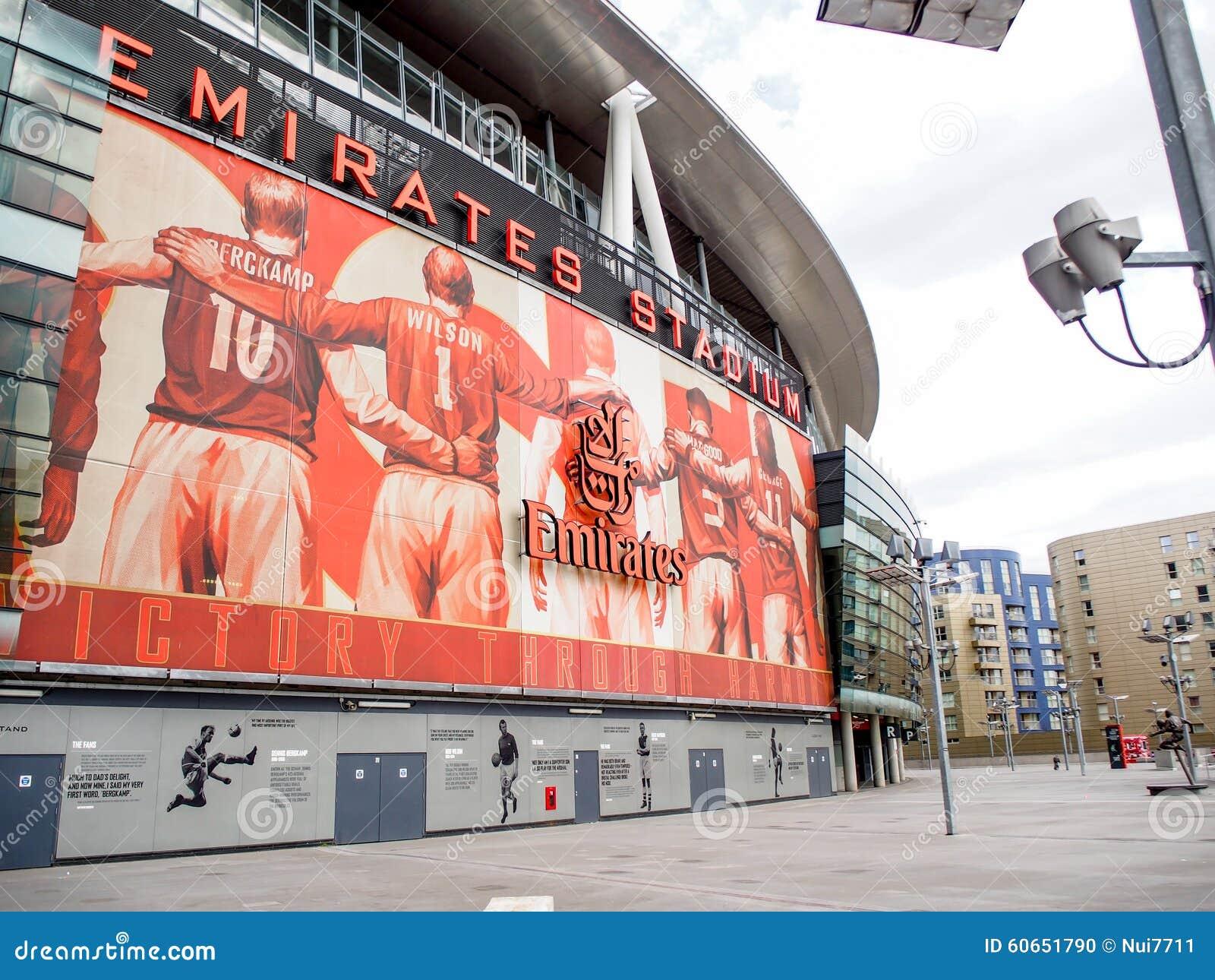 Emiratstadion, hemmet av arsenalfotbollklubban i London