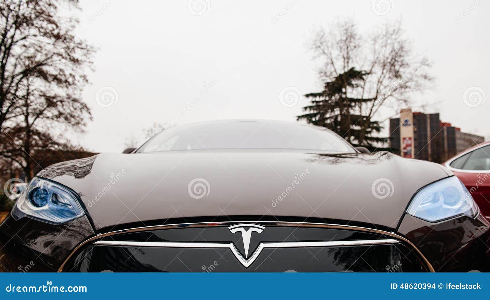 Emisiones del coche eléctrico cero del modelo S de Tesla