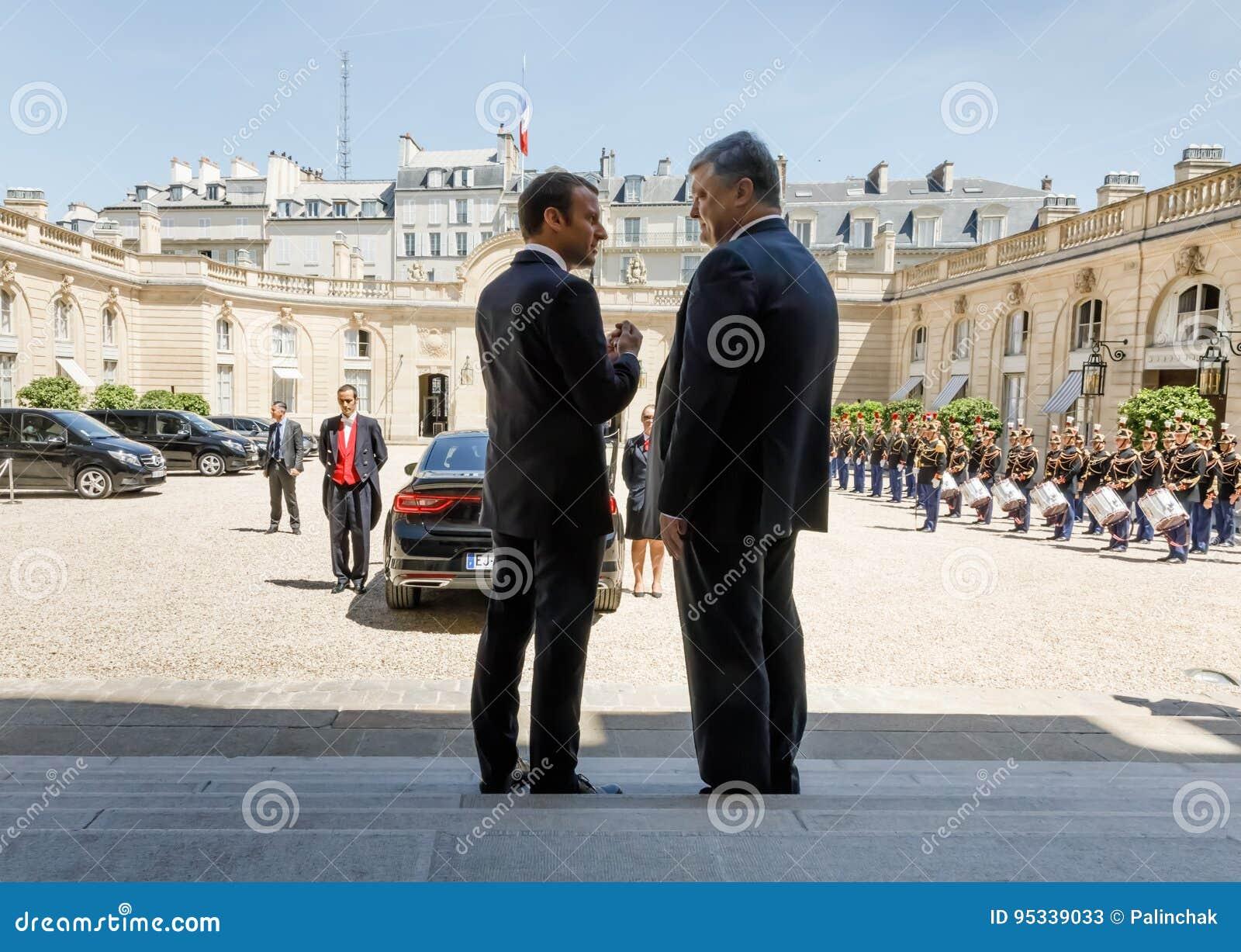 Emmanuel Macron и Petro Poroshenko