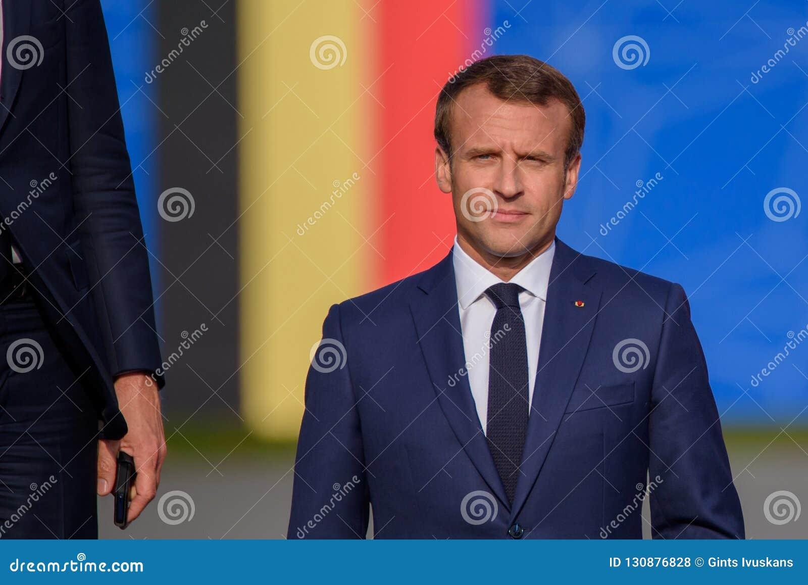 Emmanuel Macron Presidente De Franca Foto De Stock Editorial Imagem De Presidente Macron 130876828