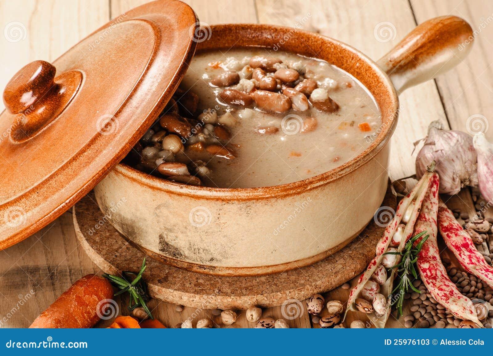 Emmer och kornsoup