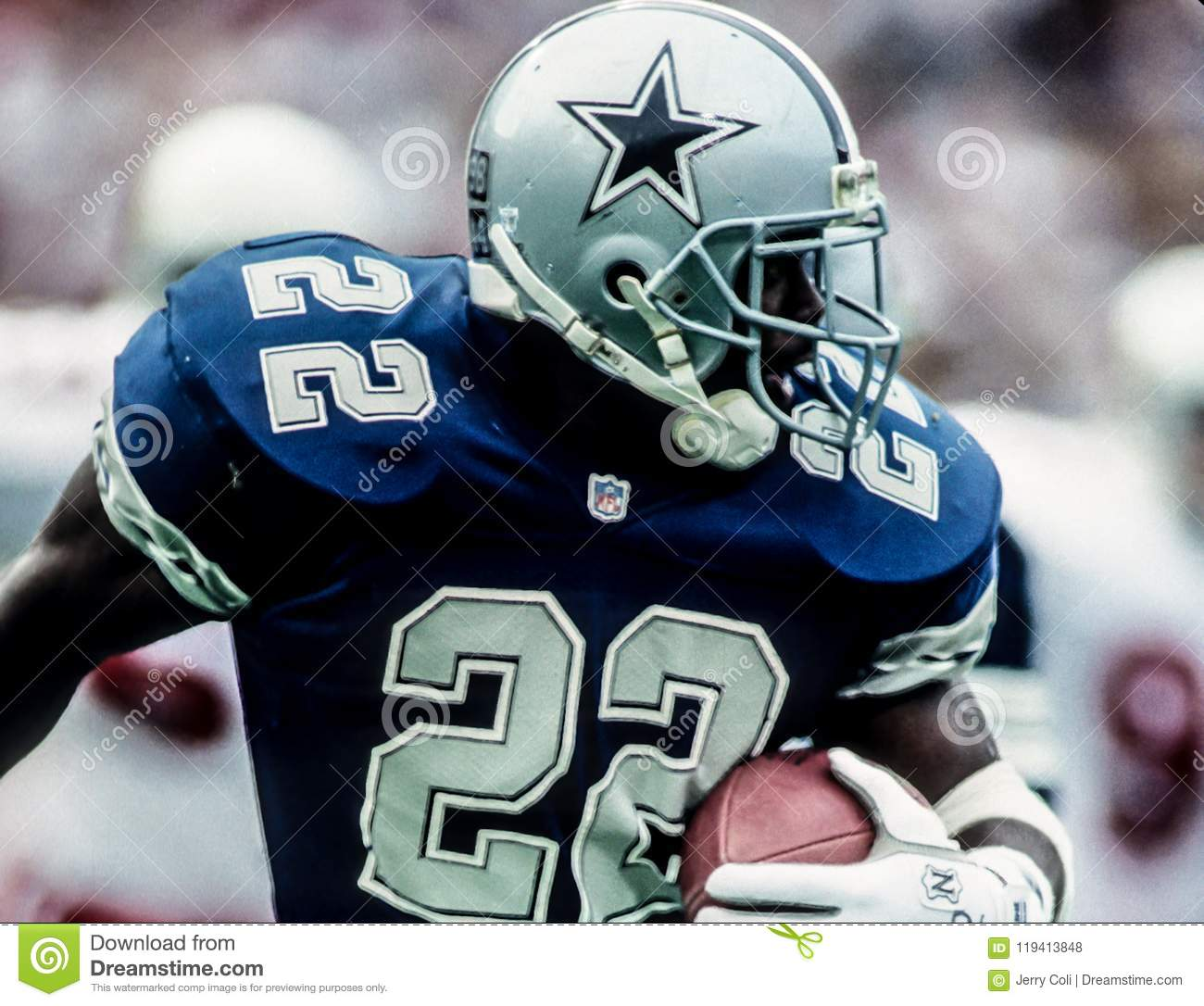 Emmitt Smith, Dallas Cowboys Editorial Stock Photo Image of