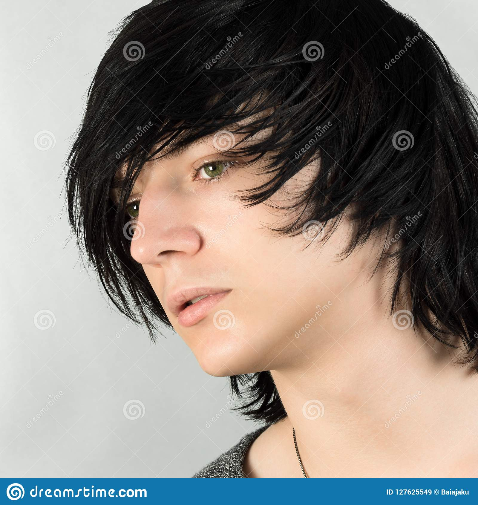 Emo Hairstyle For Boys Stock Image Image Of Handsome 127625549