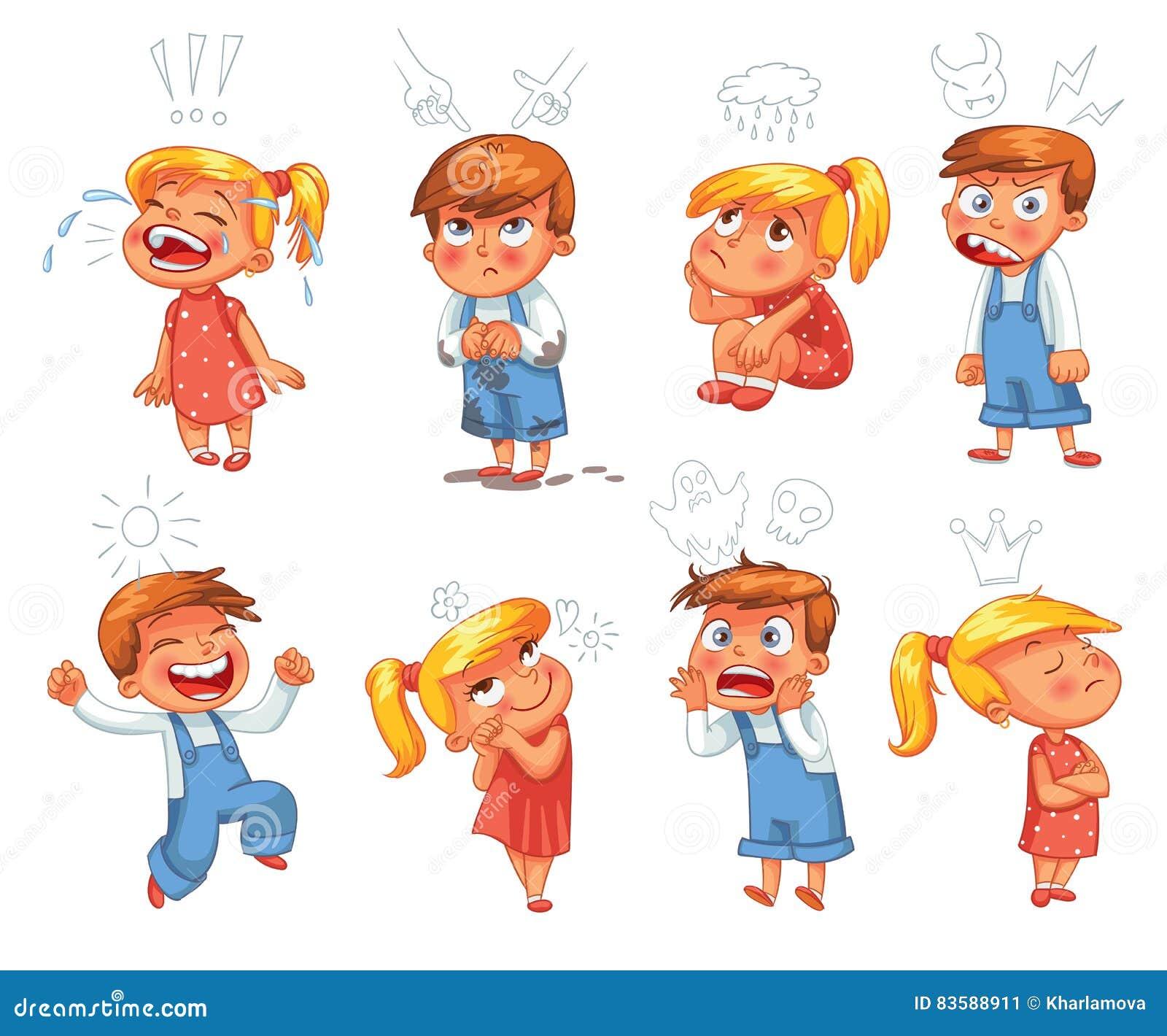 Emociones Básicas Personaje De Dibujos Animados Divertido