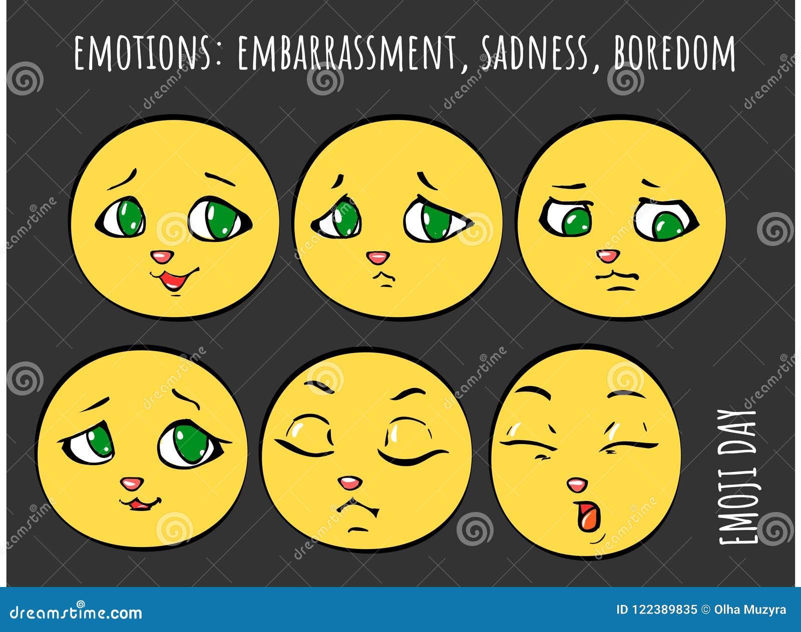 Emocje - zawstydzenie, smucenie, nuda