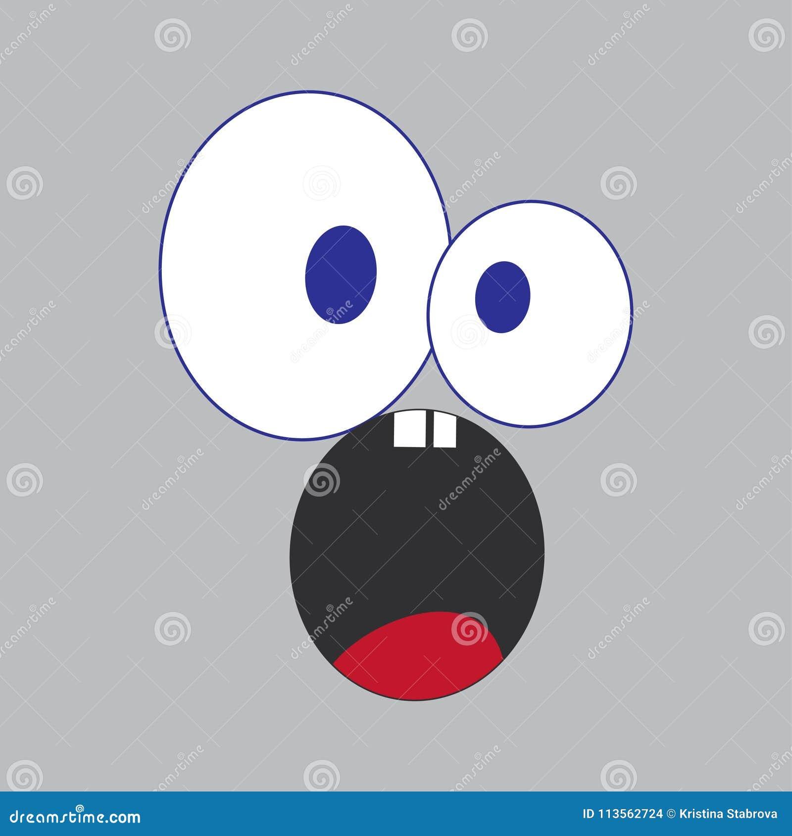 Emogy Gritando Com Olhos Grandes Ilustracao Dos Desenhos Animados