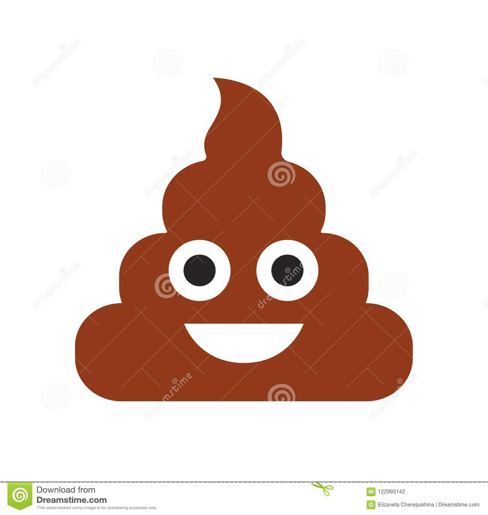 Emoji 船尾面孔 逗人喜爱的意思号 平的微笑 也corel凹道例证向量