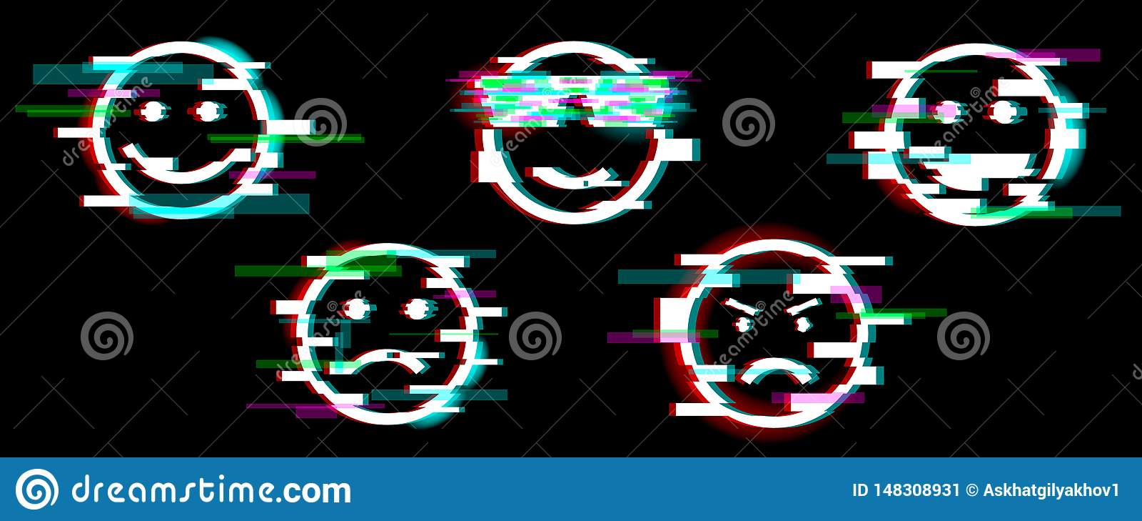 Emoji? 设置与另外情感乐趣,哀伤,凉快,恼怒,笑的微笑 r