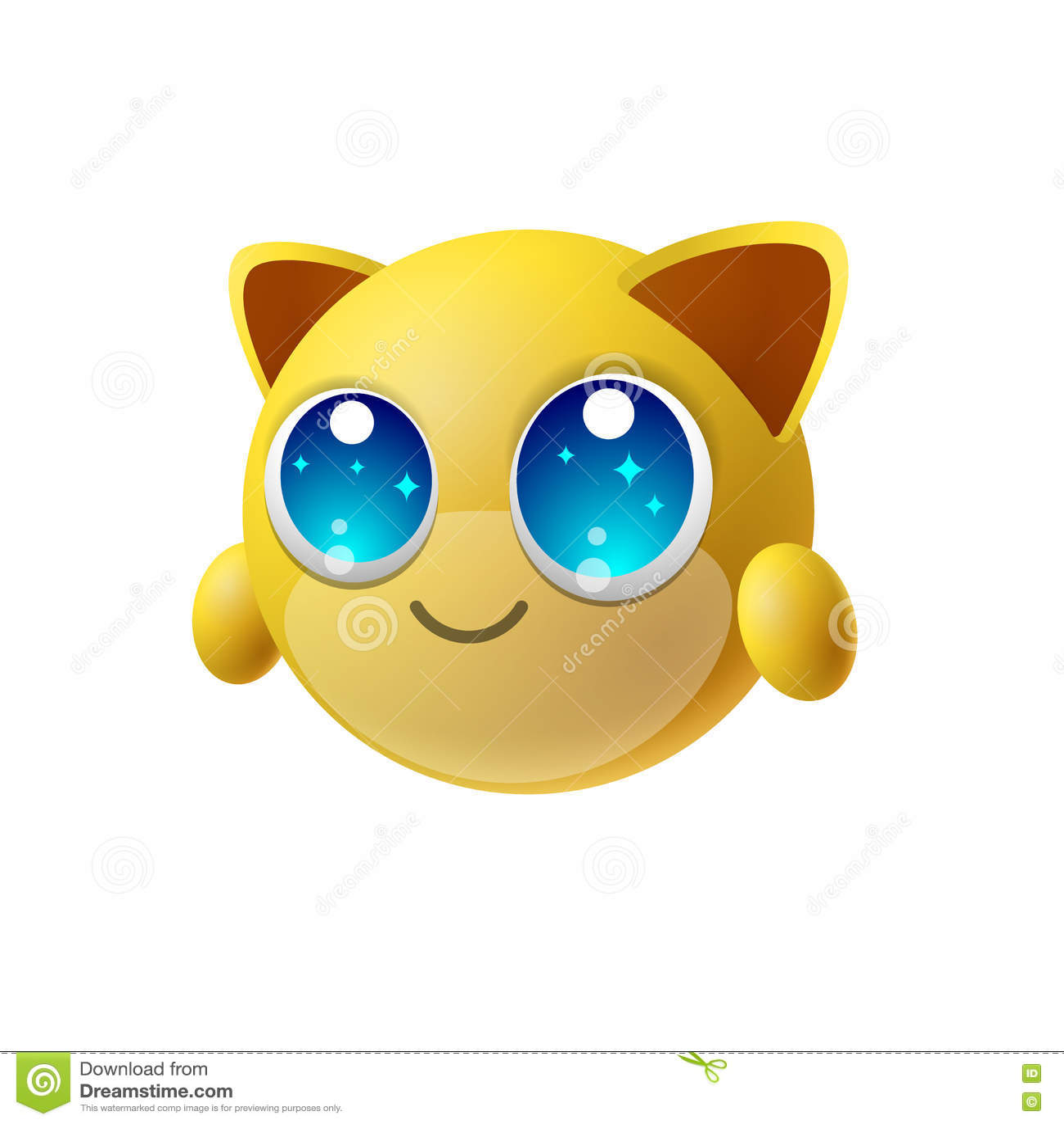 Emoji Animal Lindo Con Los Ojos Grandes Personaje De