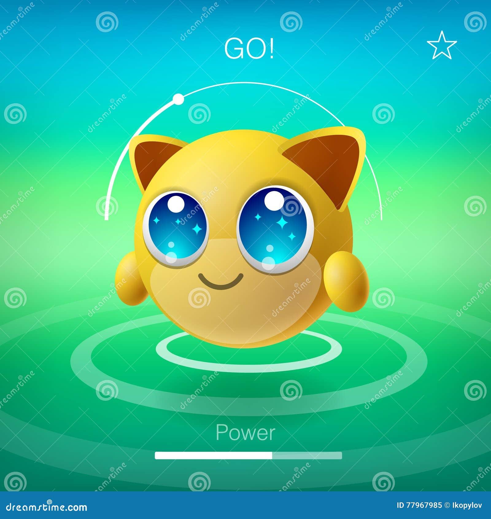 emoji animal mignon avec de grands yeux personnage de dessin anim fond