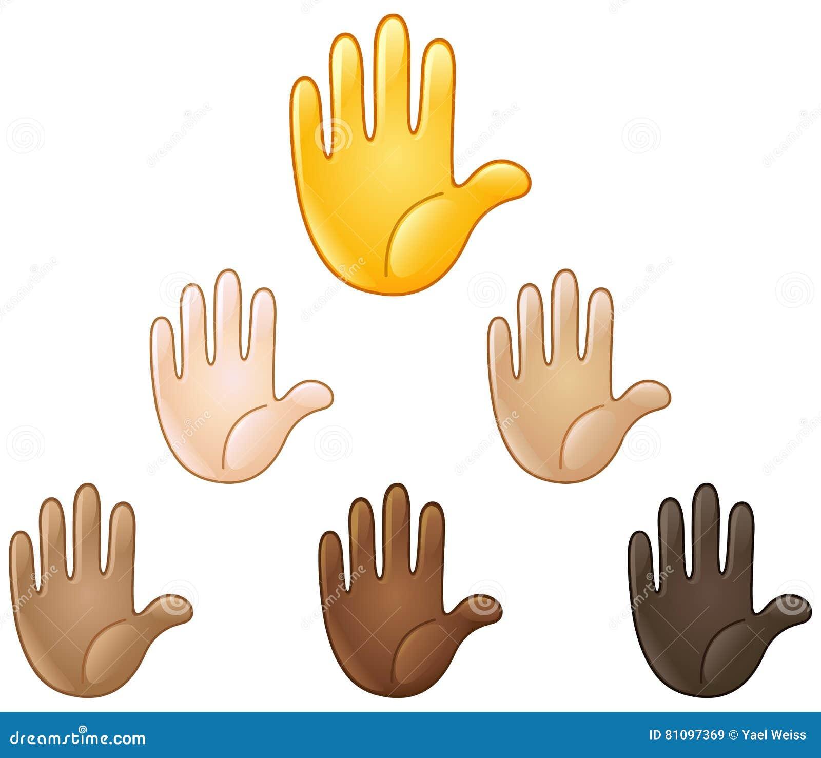 Emoji augmenté de main