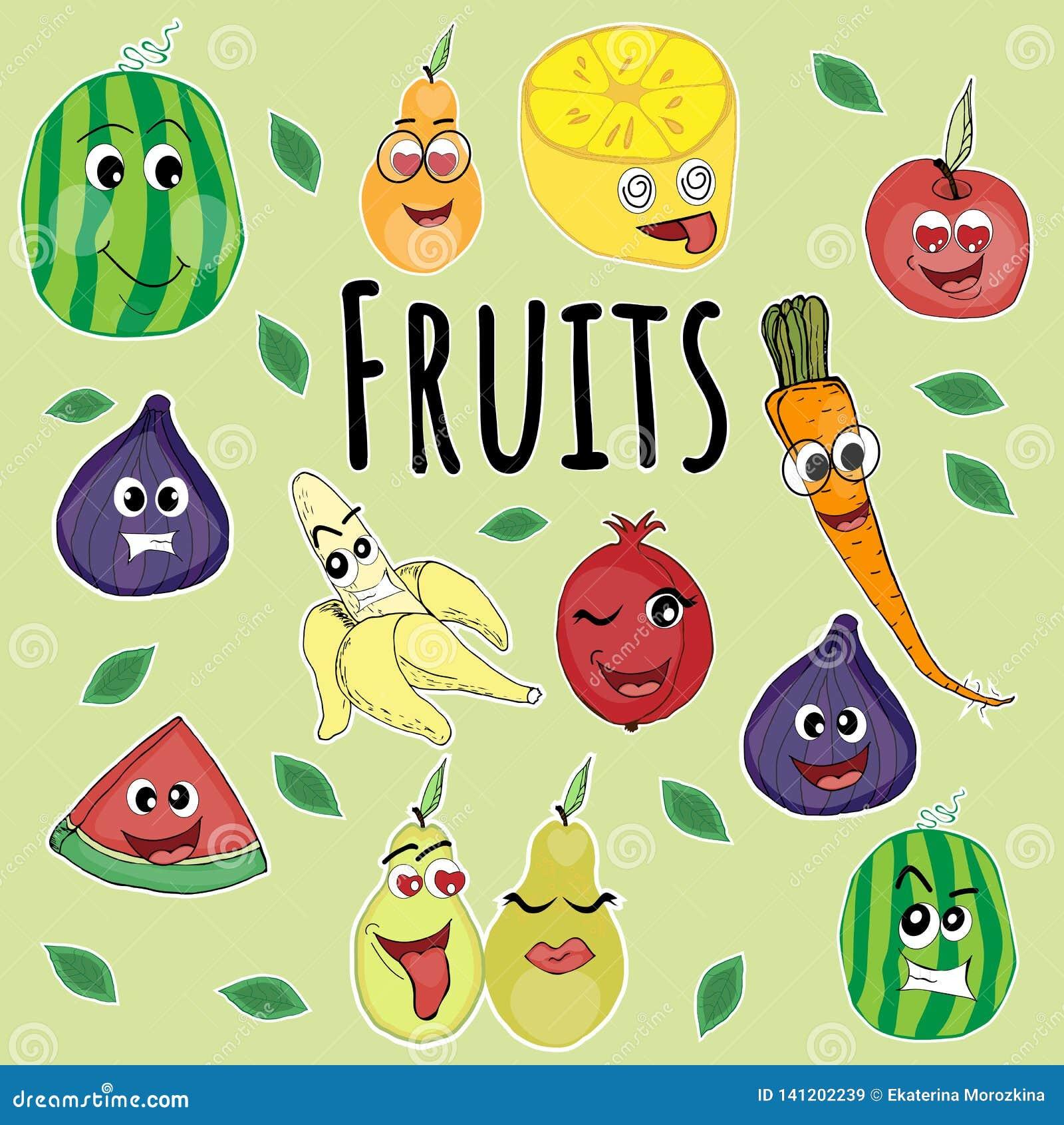 Emoji bajo la forma de fruta,