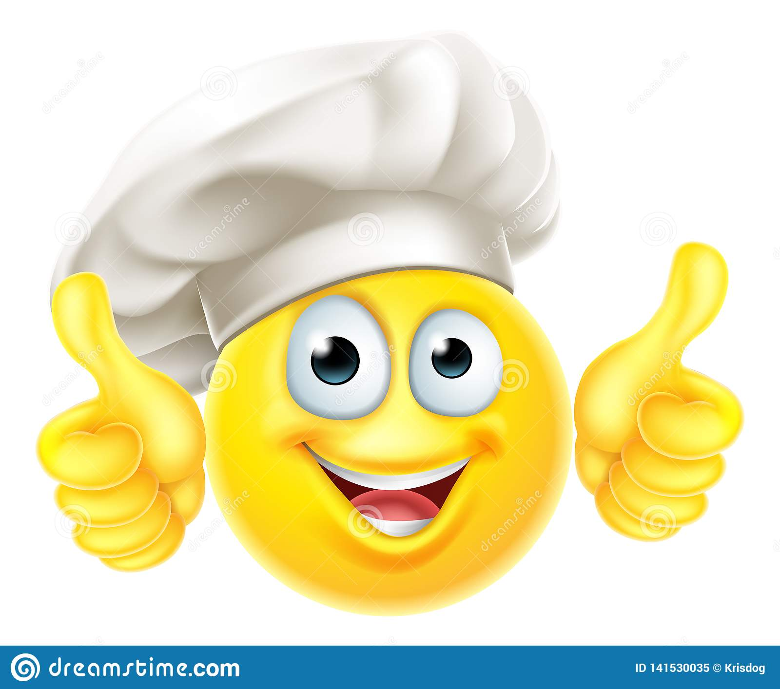 Emoji Chef Cook Cartoon Thumbs Up