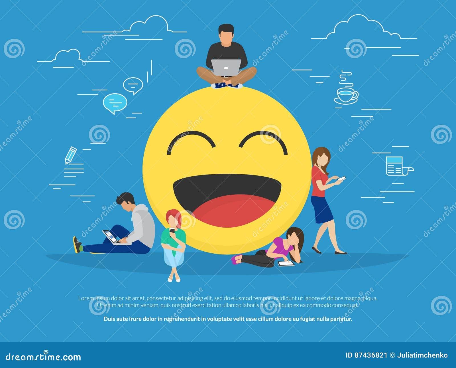 Emoji concept illustration stock vector illustration of internet emoji concept illustration buycottarizona Images