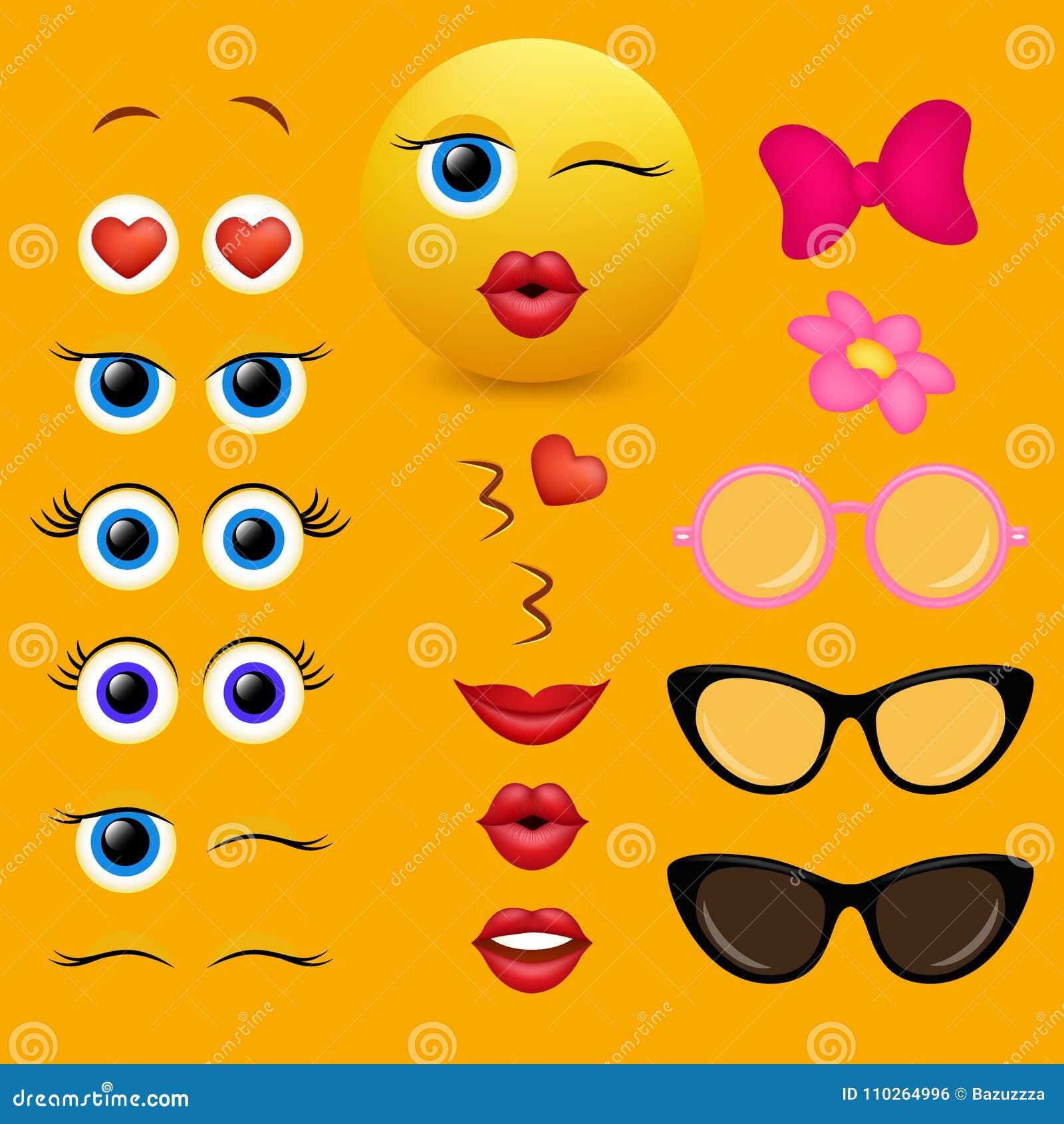 Emoji Creator Vector Design Collection Stock Vector