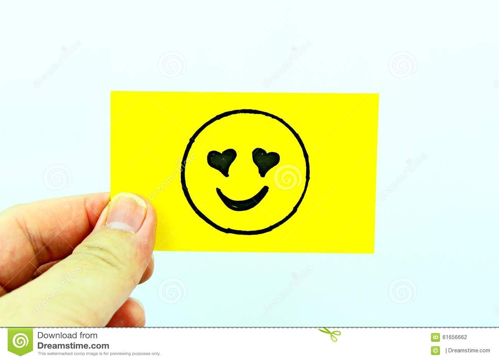 emoji de dessin de main avec le visage d moticne