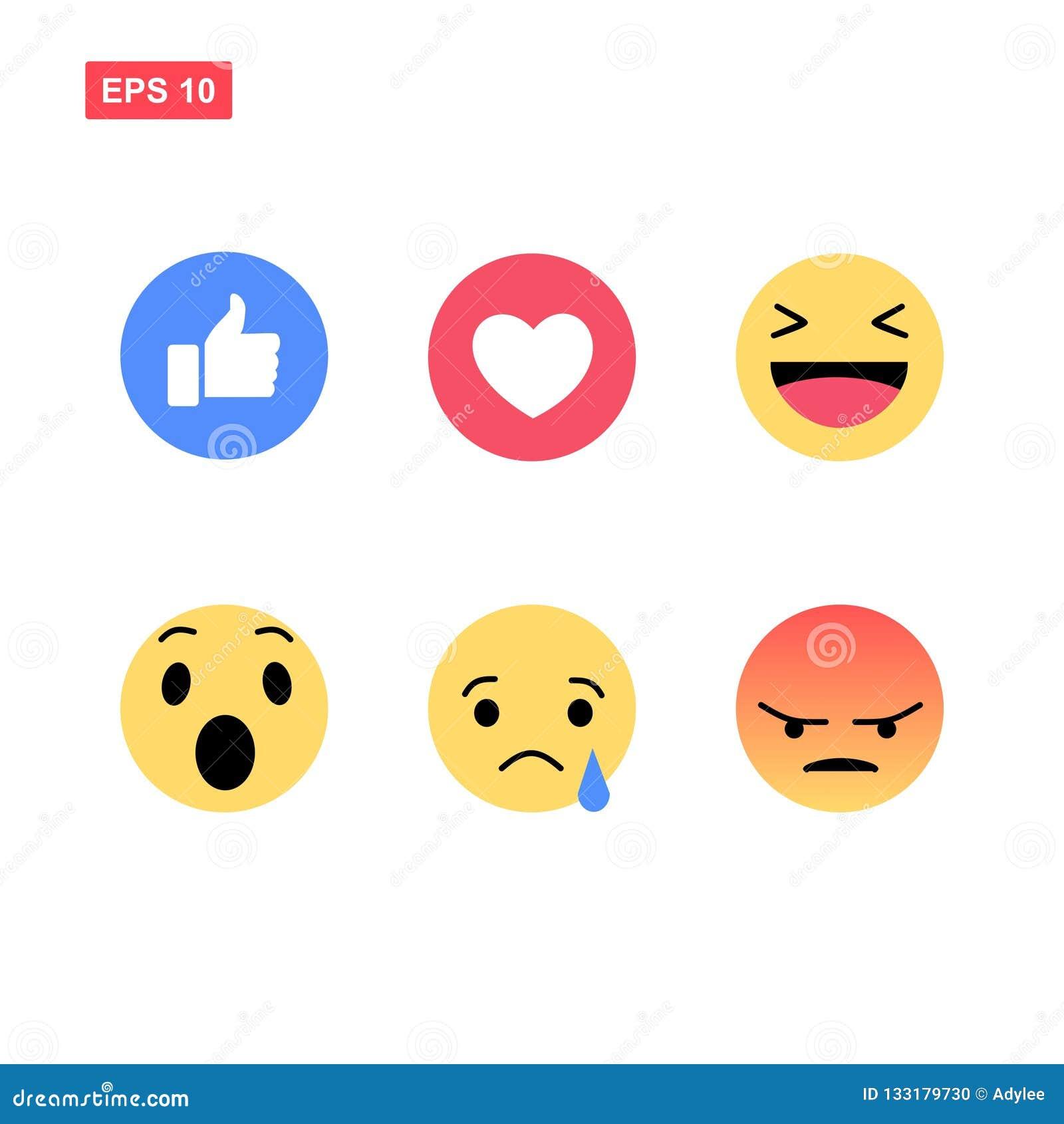 Emoji de Facebook isolado