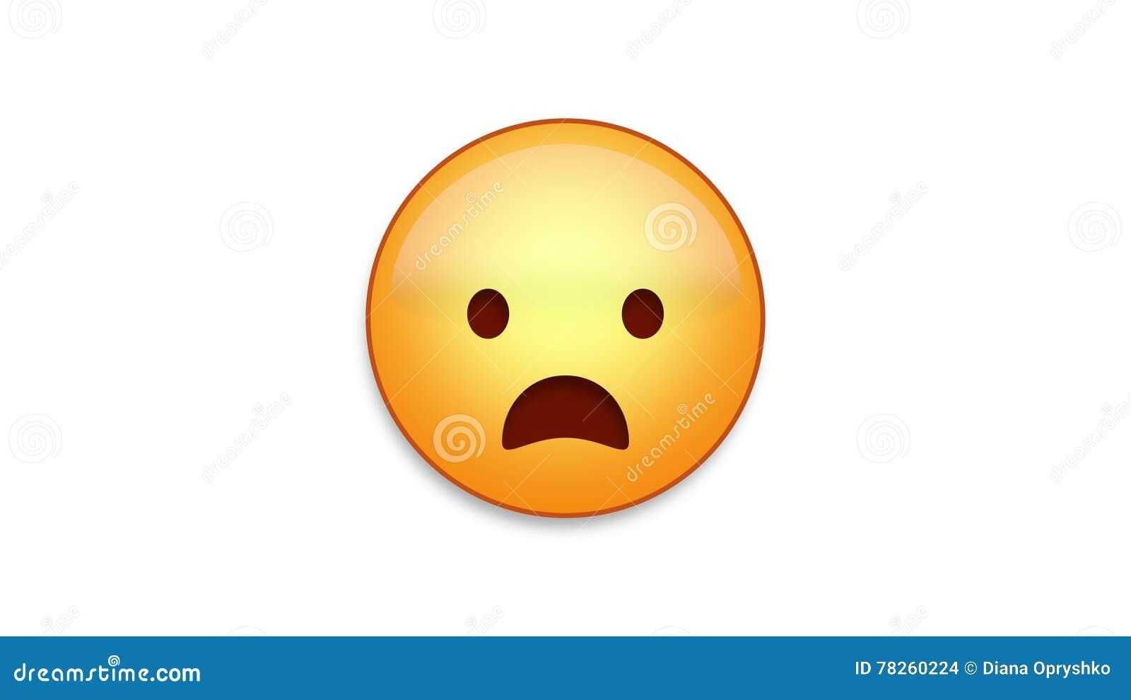 Emoji de froncement de sourcils avec de la matte de Luma