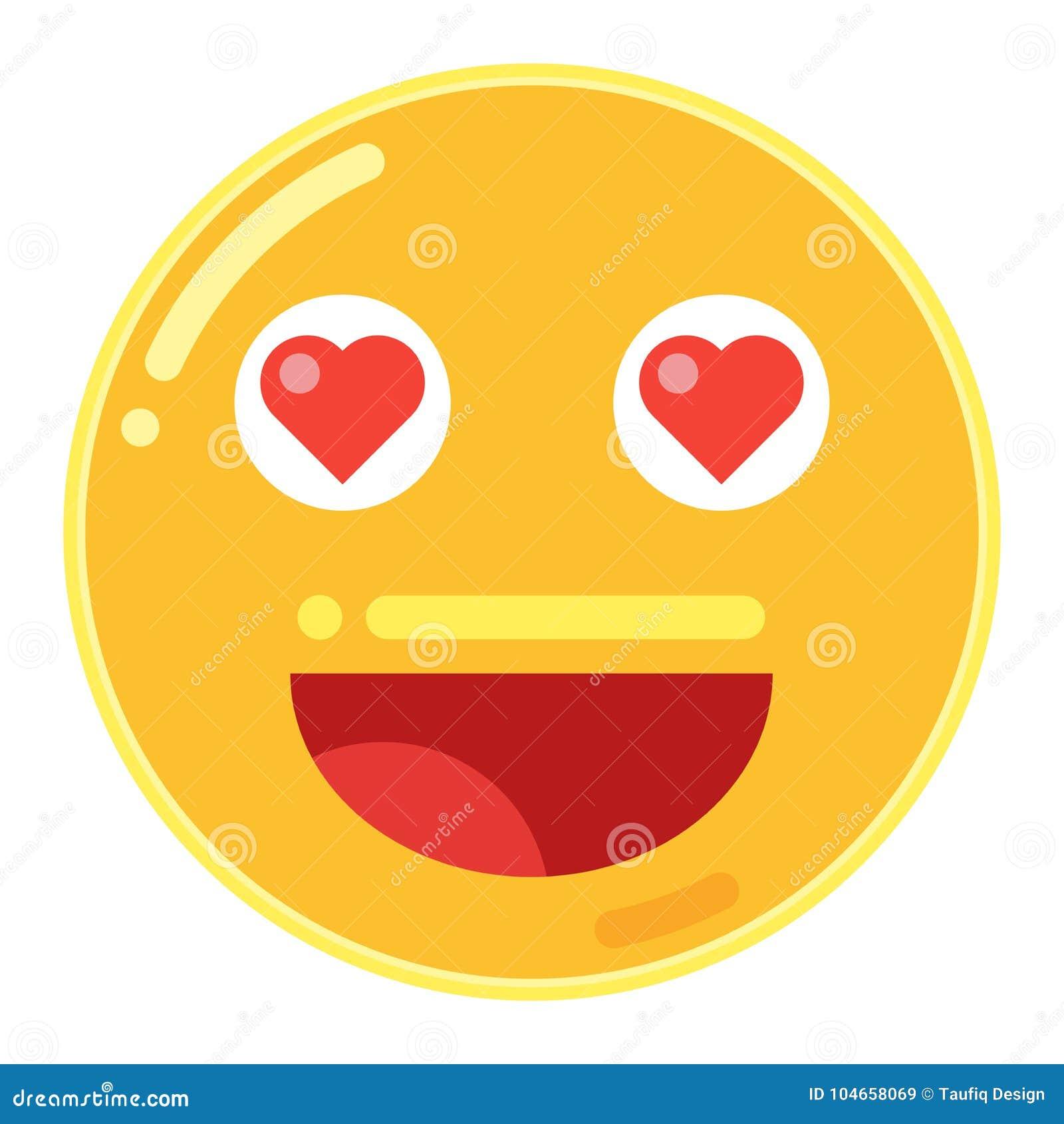 Emoji De Smiley Face Con El Corazon Del Amor En Vector Plano Del Icono Del Diseno Ilustracion Del Vector Ilustracion De Icono Vector 104658069