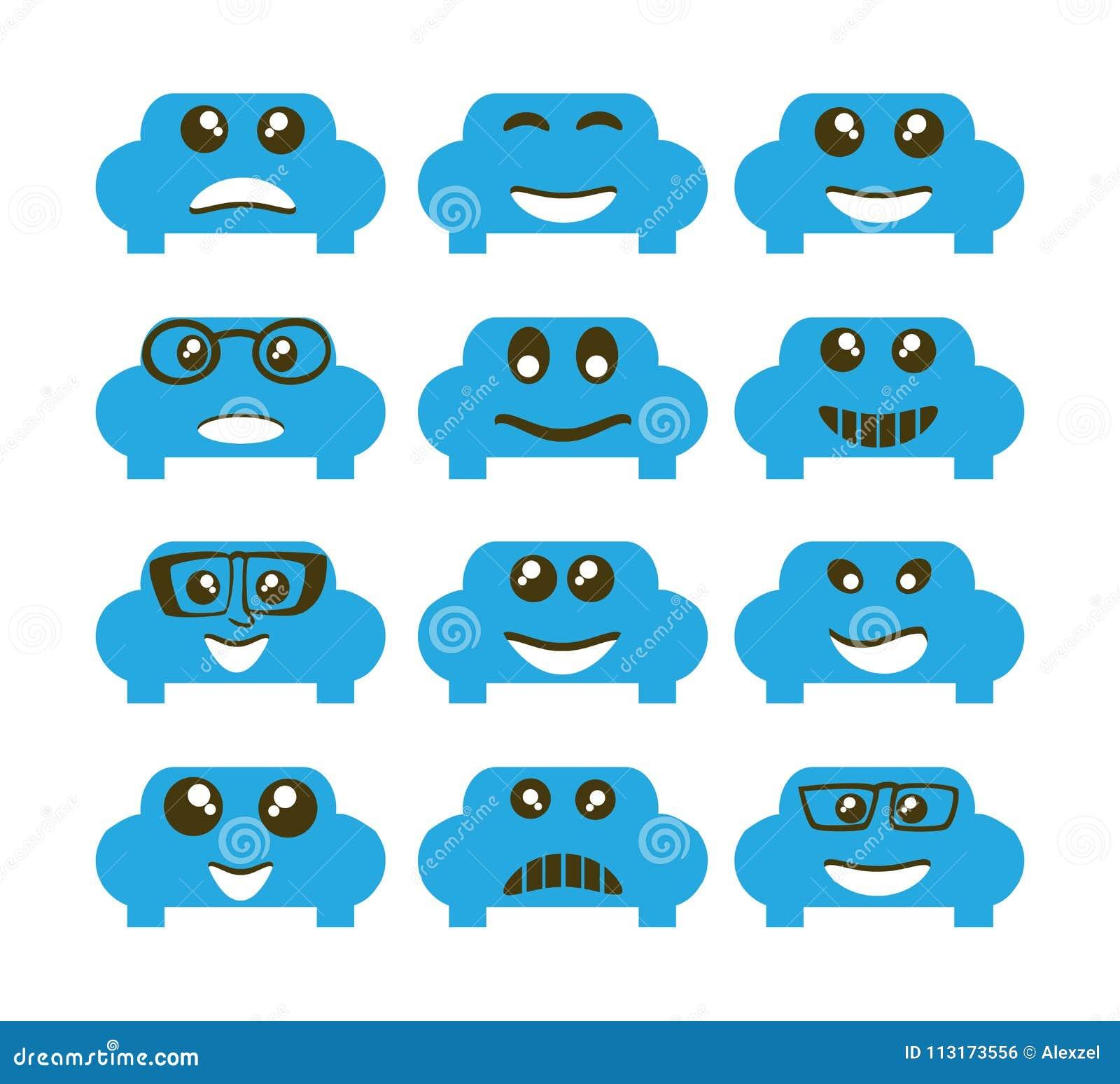 Emoji Emoticon Expression Stock Vector Illustration Of Funny