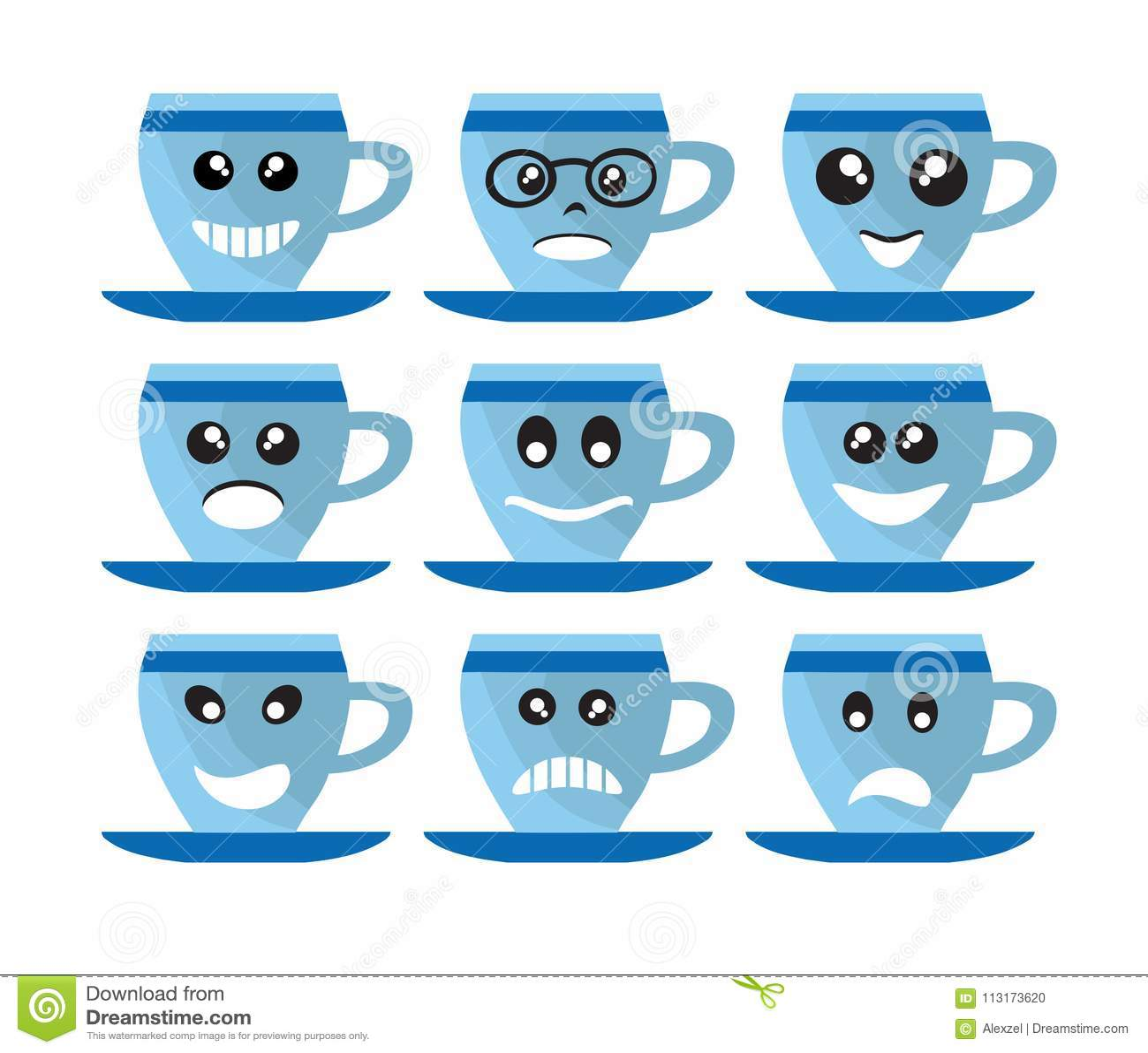 Emoji Emoticon Expression Stock Vector Illustration Of Drink